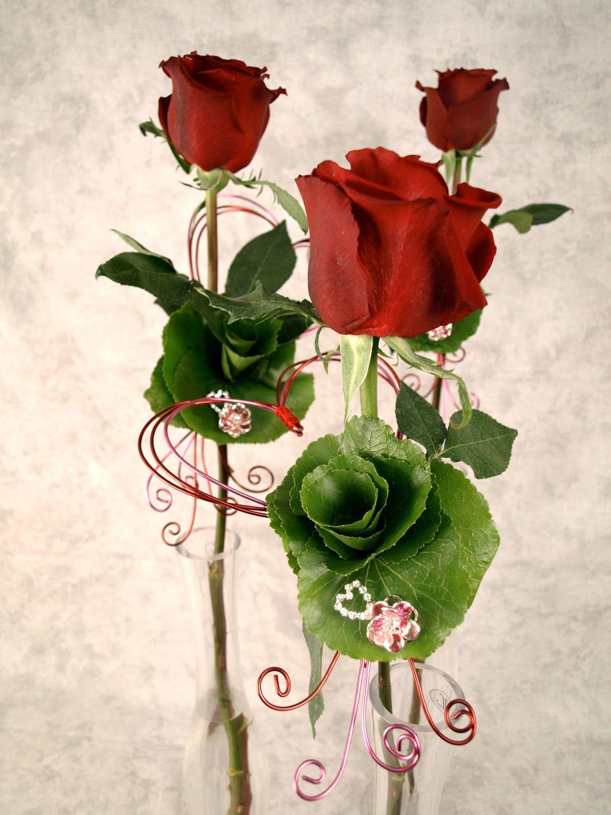 25 fotos de rosas rojas arreglos florales y postales para el Da del Amor y