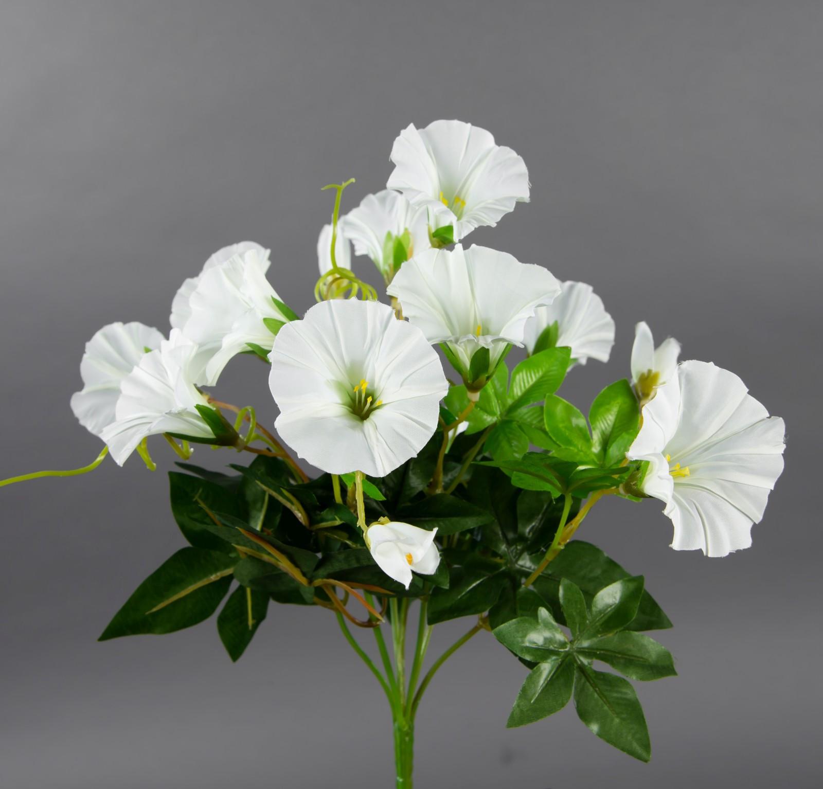 Petunienbusch 28cm weiß ohne Topf ZF künstliche Pflanze künstliche Petunie Kunstblume Kunstpflanze Neuheiten