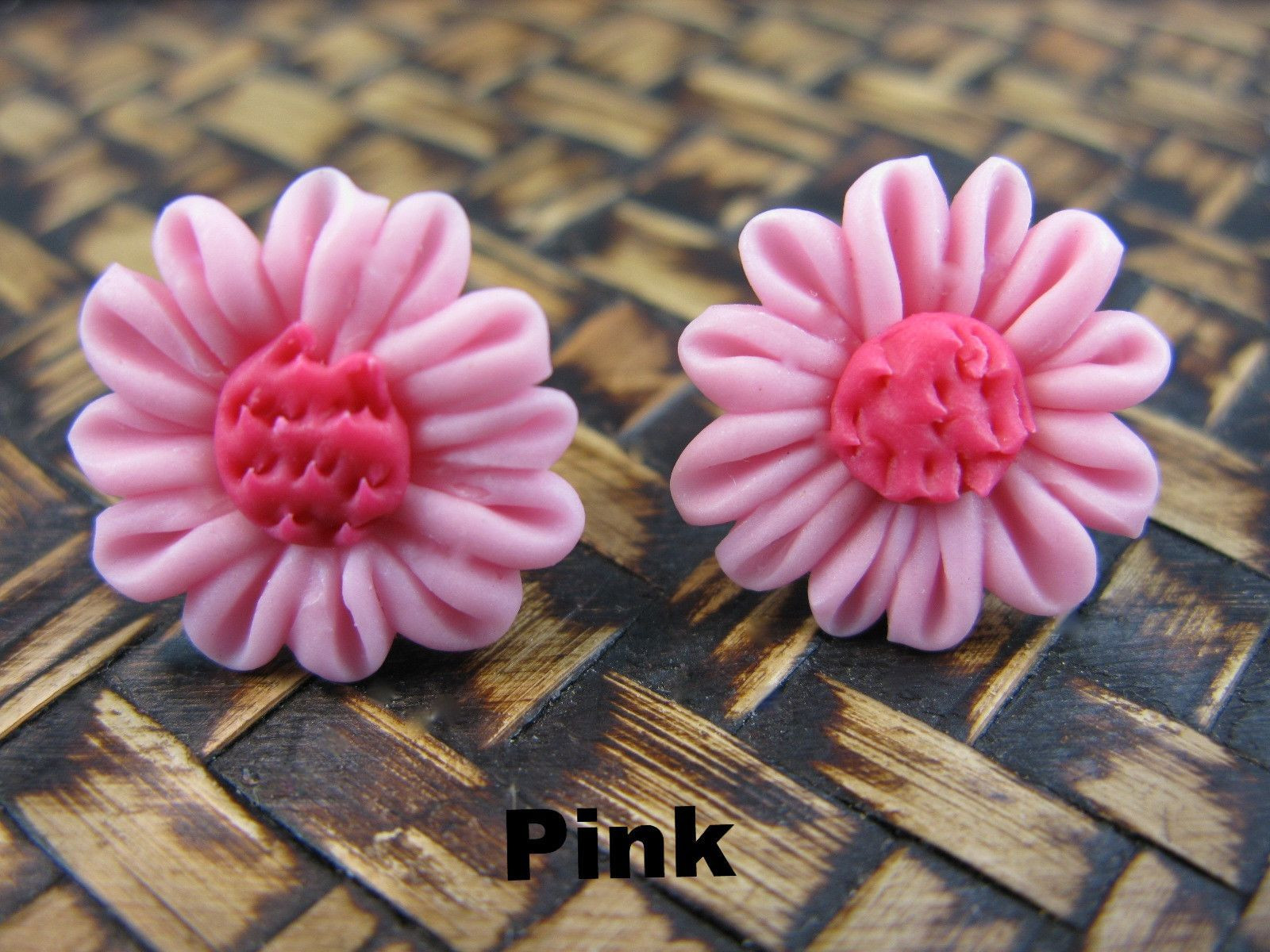 Chrysanthemum Flower Handmade Clay Stud Earrings