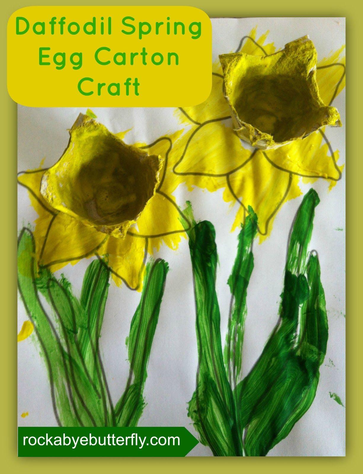 Rockabye Butterfly Spring Daffodil Craft