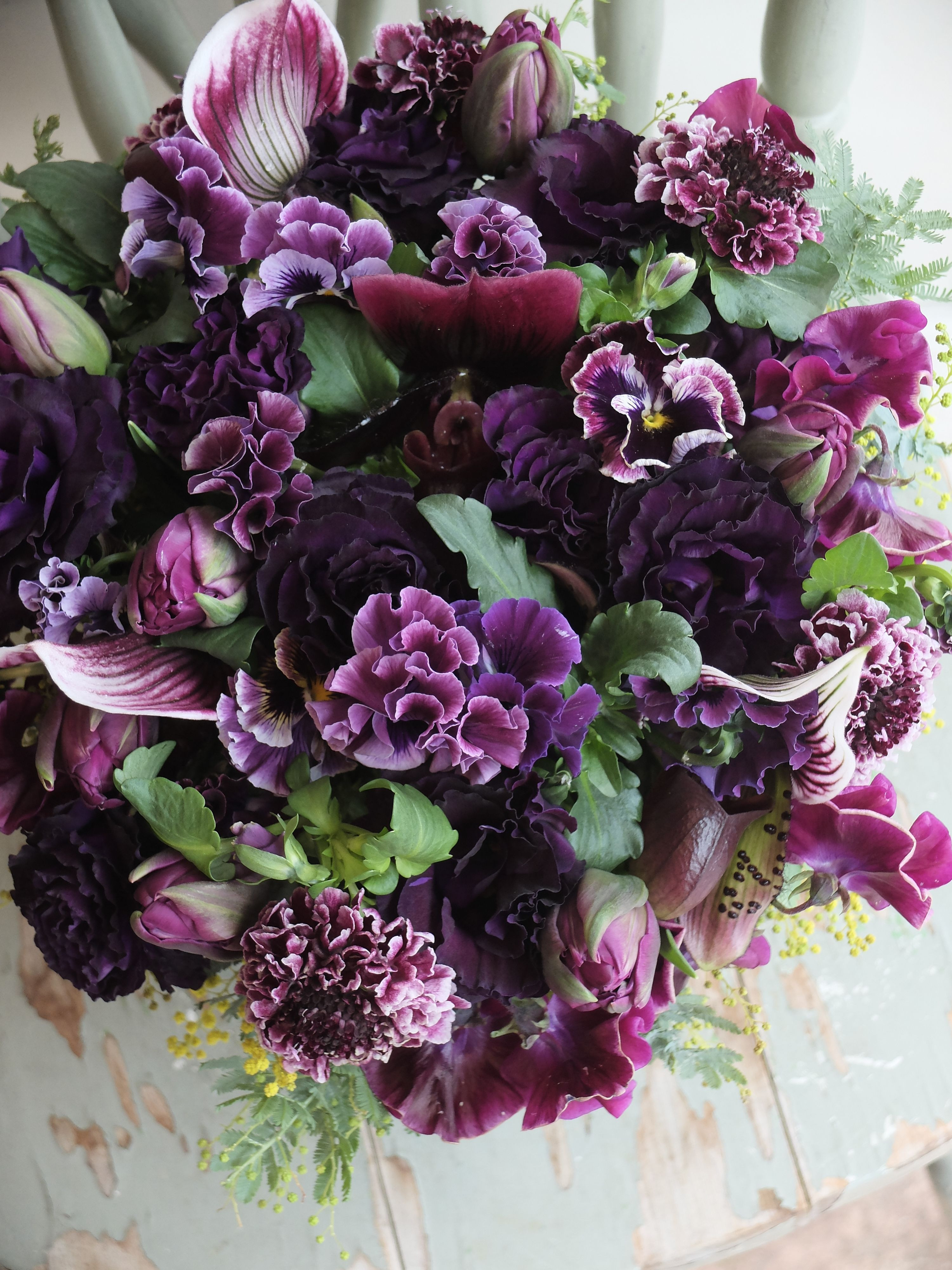 eustoma pansy and orchid