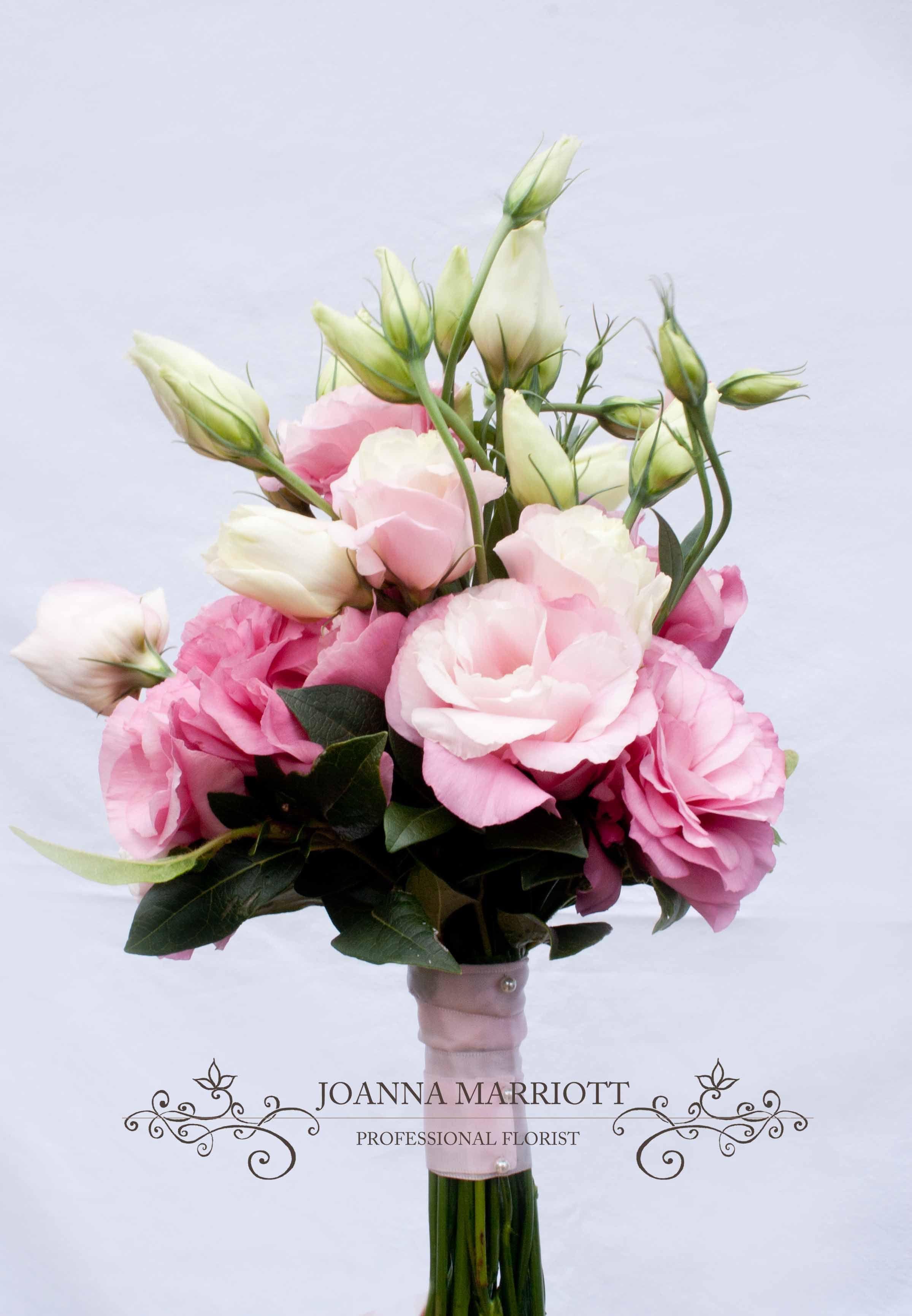 Pink Bridesmaids Bouquet pink lisianthus eustoma