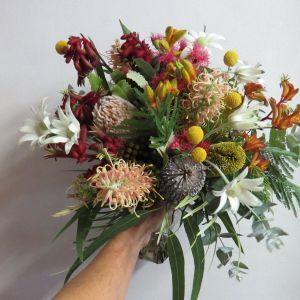 Flannel Flower Flower Best Of Australian Native Flowers Wedding Bouquet Hand Tied Brights