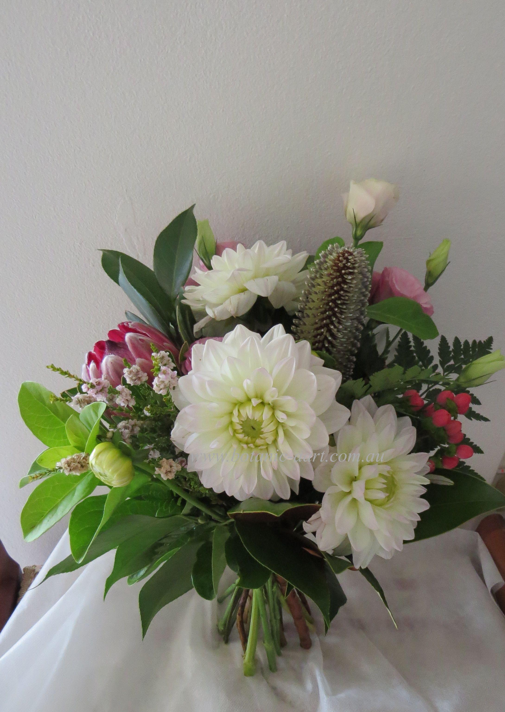 native flowers protea boho style beachwedding