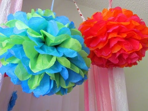 Pleasant How To Make Tissue Paper Pom Poms Beautiful Flower Home Interior And Landscaping Ologienasavecom