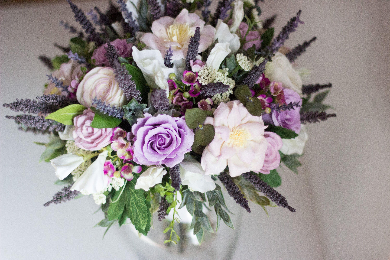 Lavender Bridal Bouquet Lavender Roses Bouquet Wood Flower Bouquet Scheme Lavender Flower Bouquet 40
