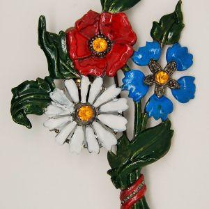 Maltese Cross Flower Inspirational Flower Floral Perfume Pot Metal Brooch 1940s Pinterest