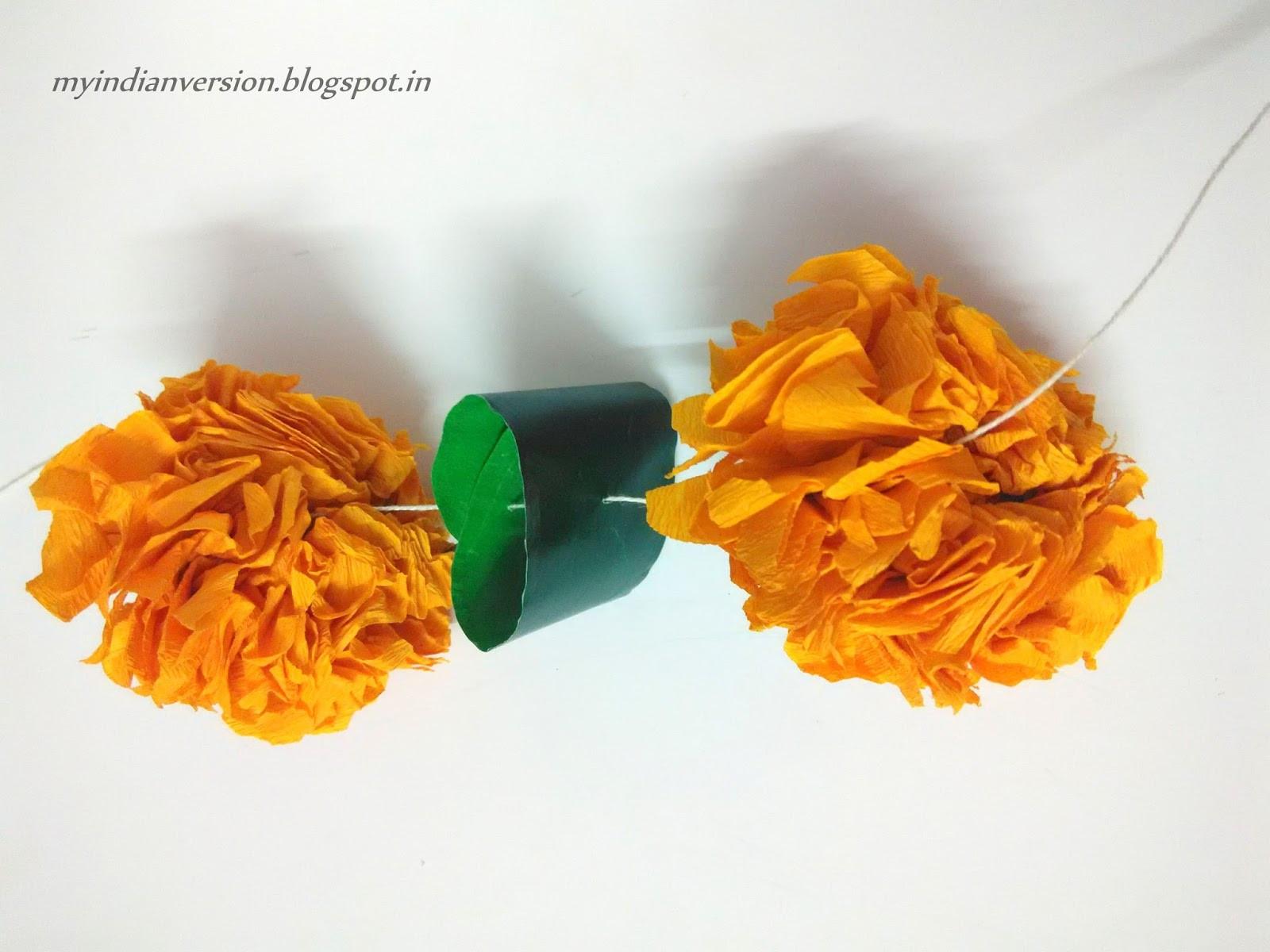 paper marigold flower