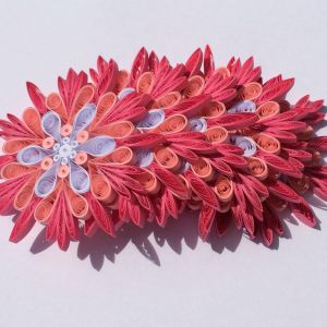 Snowflake Flower New Snowflake Pink White Quilled Handmade Art Paper Quilling Home