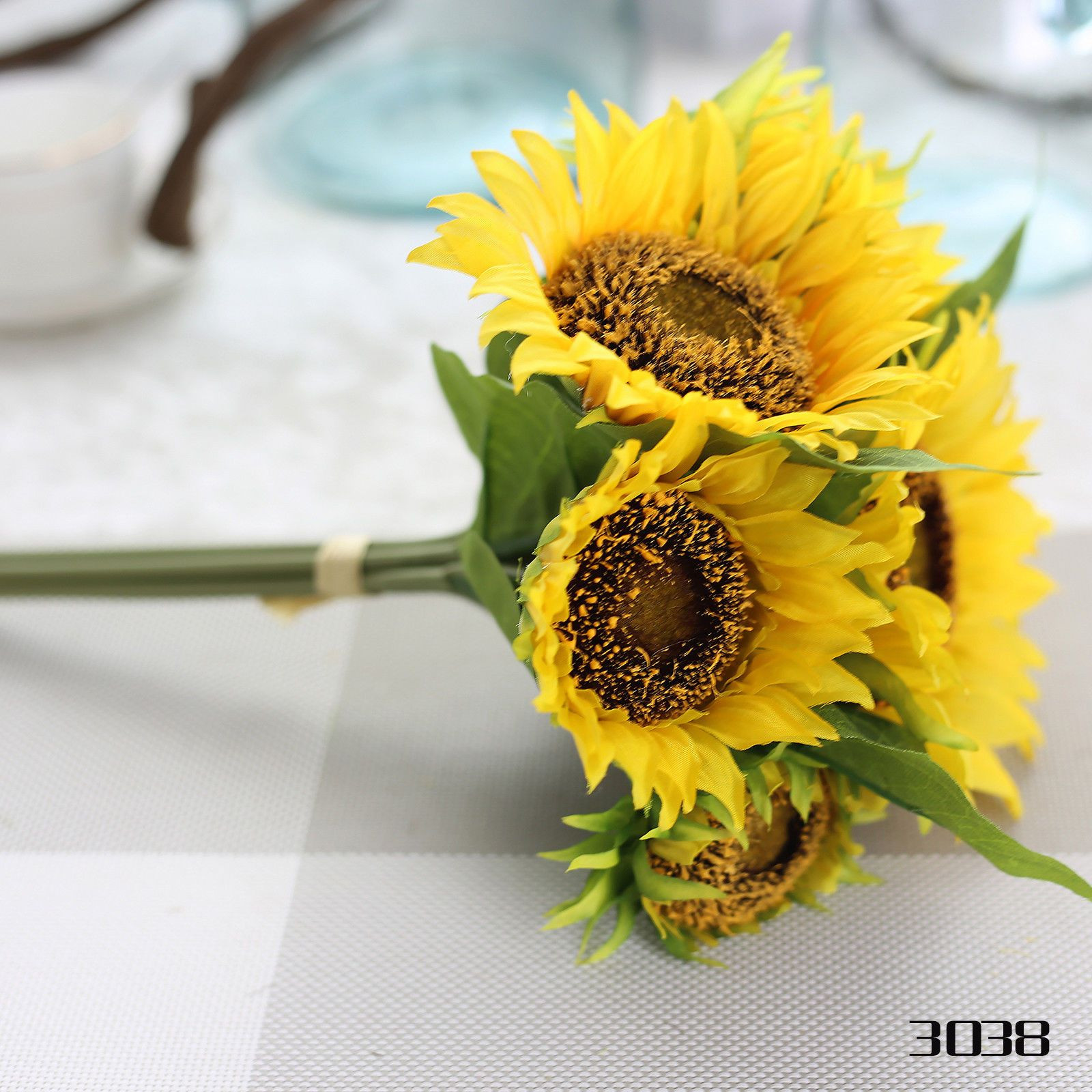 7 Heads Artificial Silk Sunflower Flower Home Wedding Party Bridal Bouquet Decor