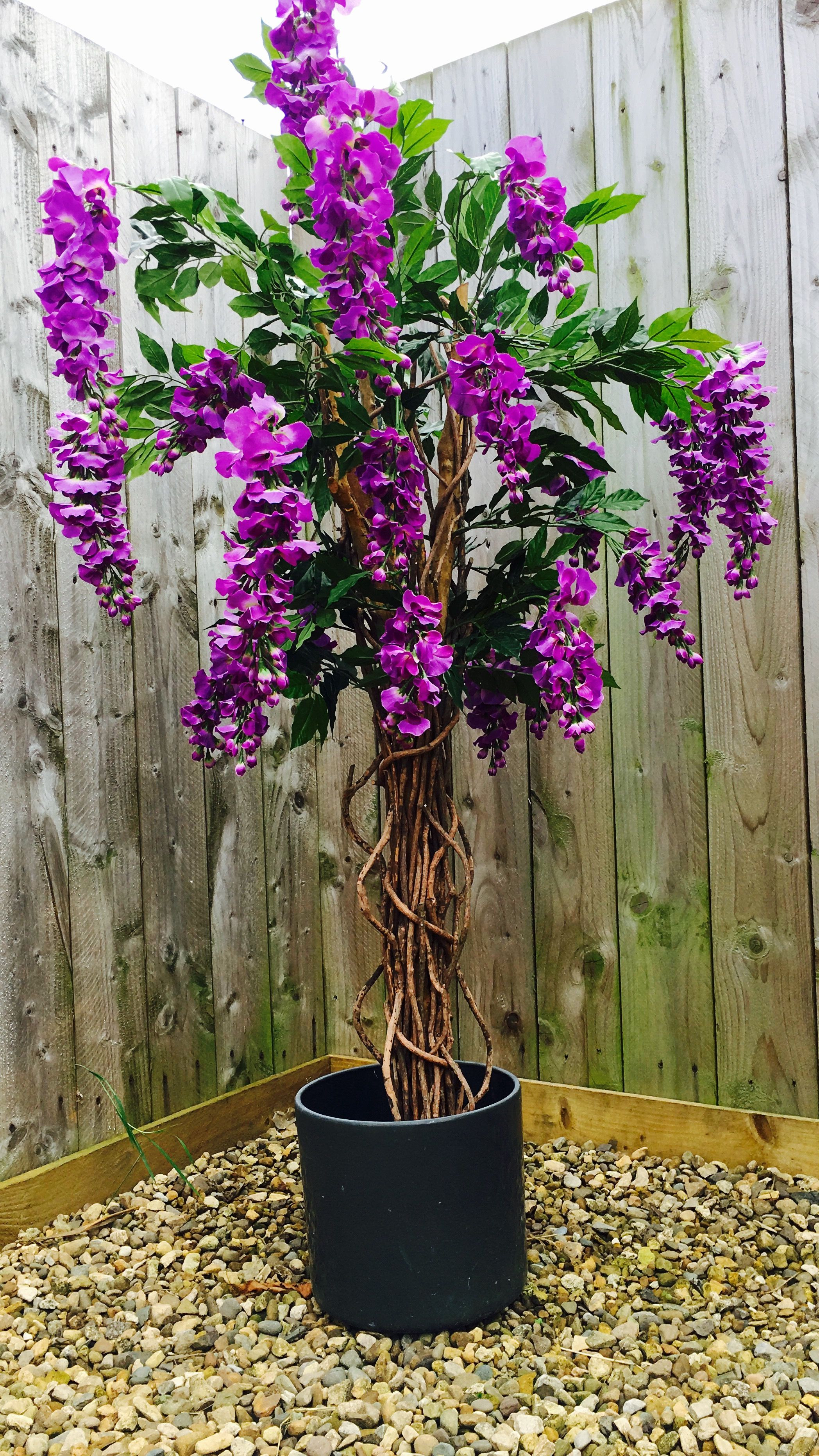 Gorgeous Purple Artificial Wisteria Flowering Tree
