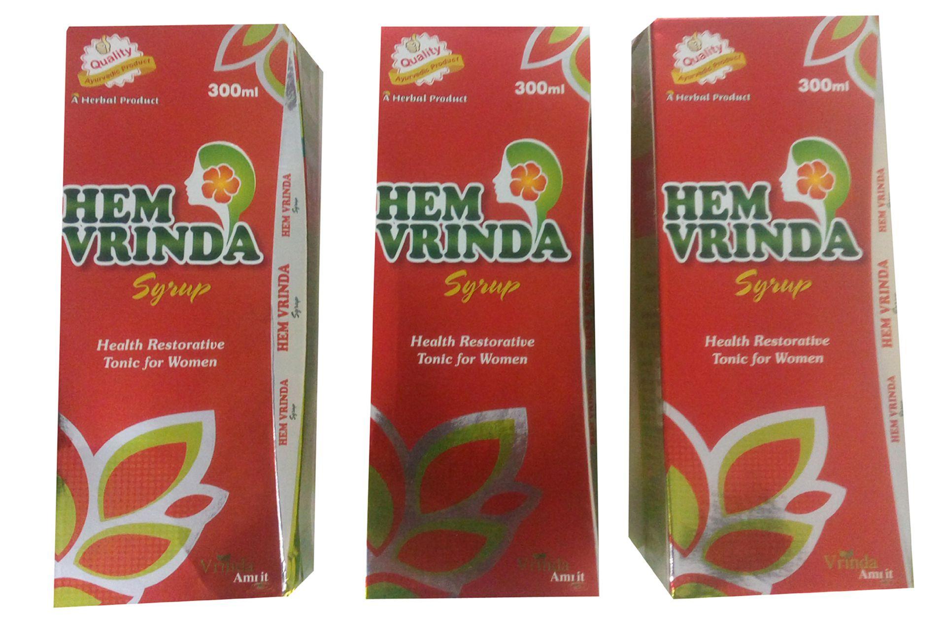GOPAL LIFESCIENCE HEM VRINDA A PLETE WOMEN HEALTH TONIC Syrup 300 ml Pack of