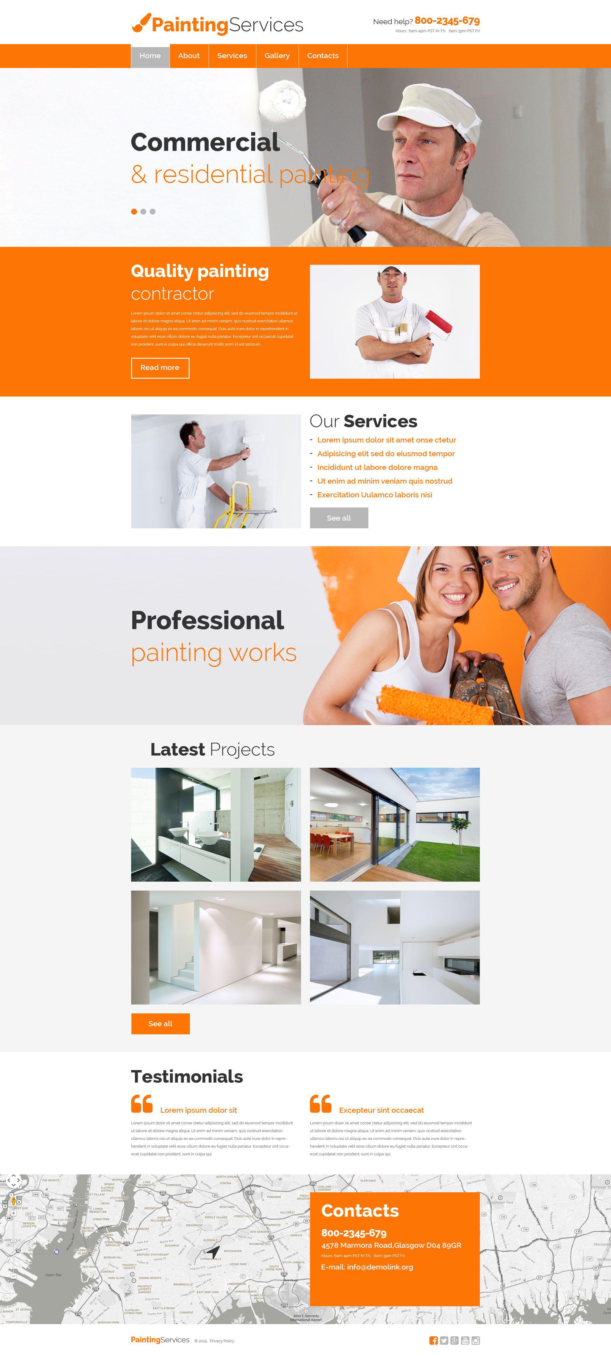 Responsive Website Vorlage für Malerbetrieb