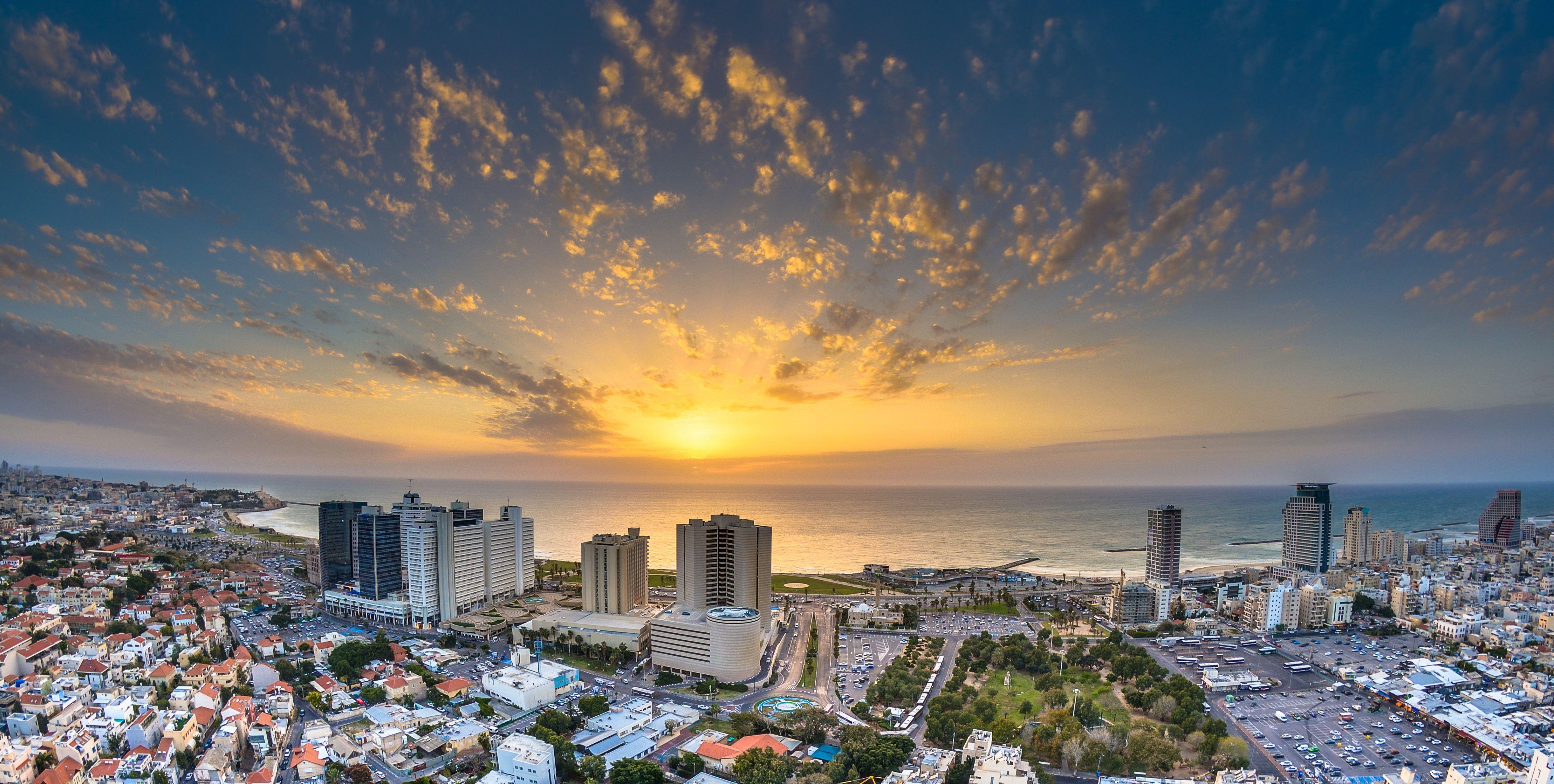 sunset over tel aviv beach 5909f6413df78c9283e4cc4b