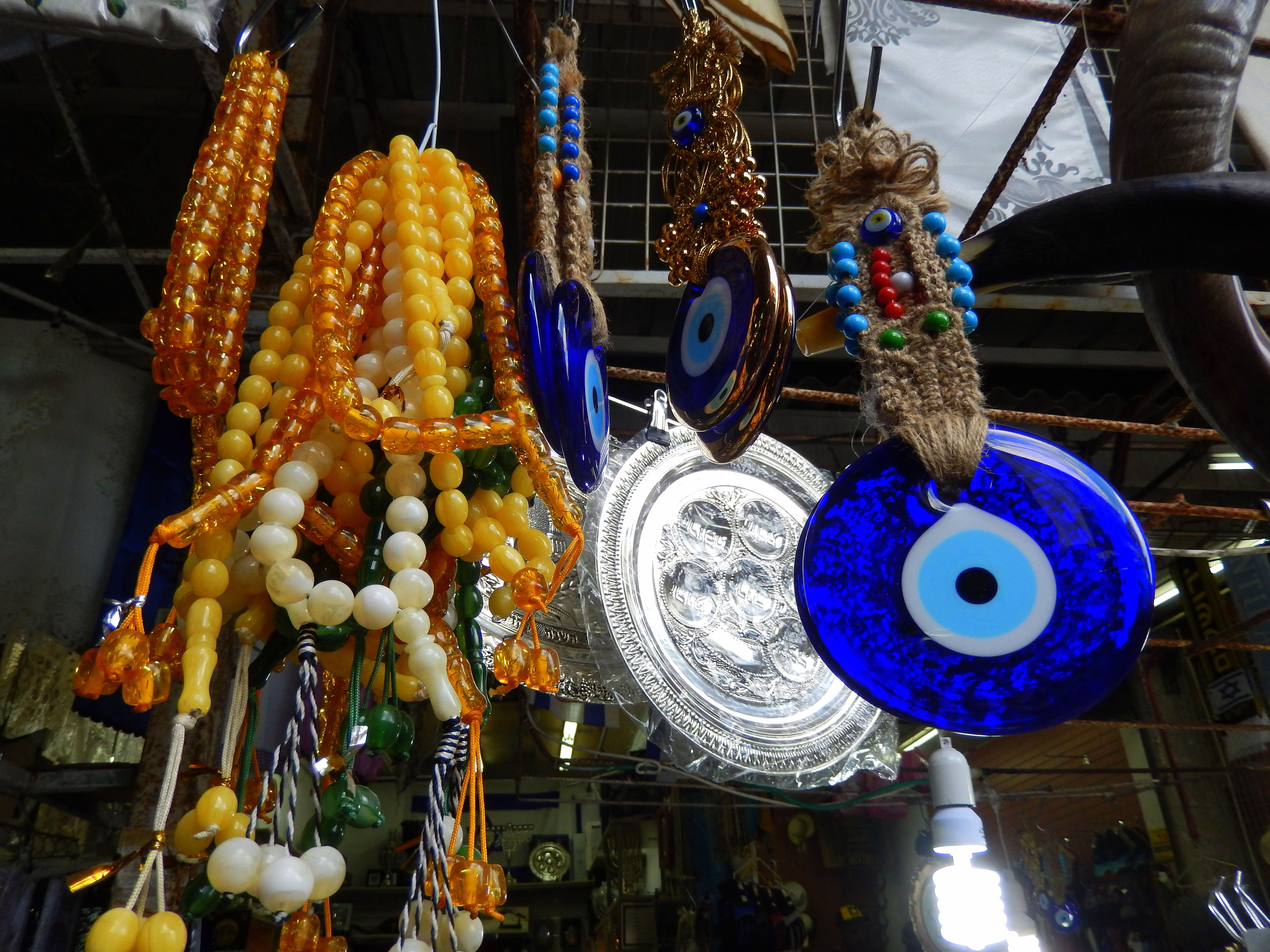 good luck charms protection against the evil eye and prayer beads at shuk hacarmel tel aviv 5b0ba040a474be ef029