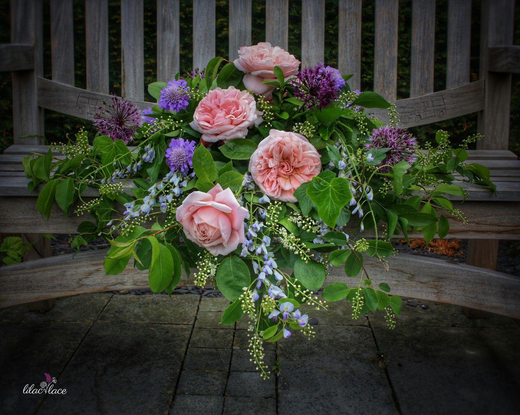 Wedding Top Tables Wedding Tops Wedding Centrepieces Centerpieces David Austin Roses Wisteria Lilac Floral Designs Wedding Center Pieces