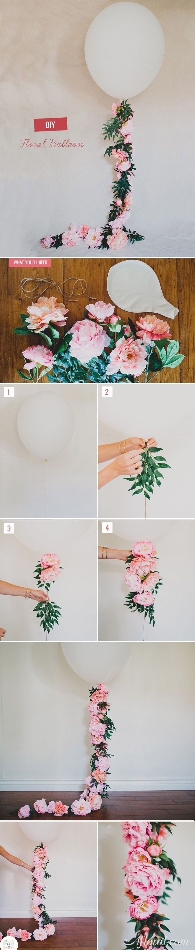 Discover thousands of images about Adorable Floral Balloon Decoration