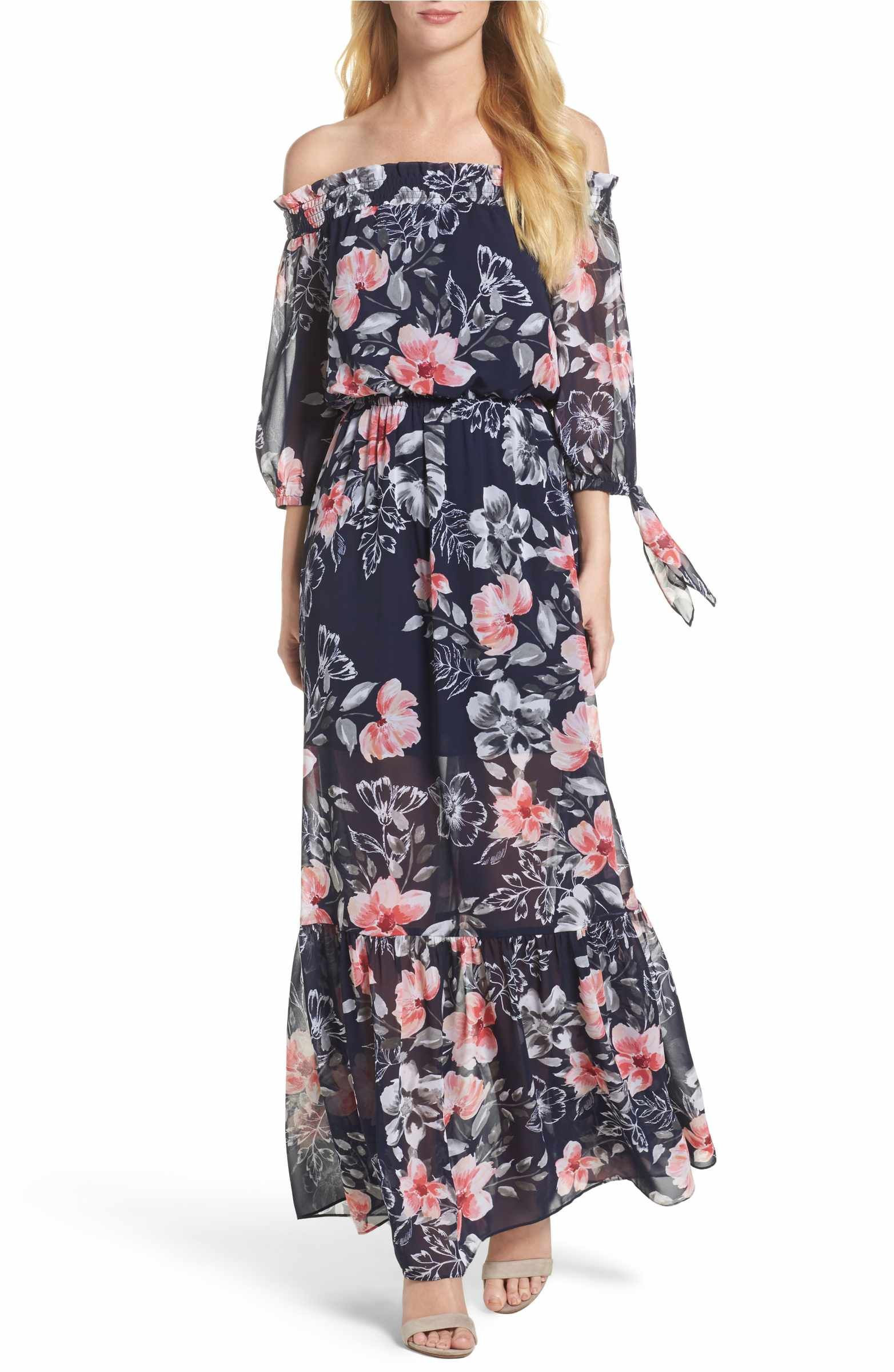 Top Quality Sale line Smocked Maxi Dress Vince Camuto Clearance Shop For Deals Cheap line Free