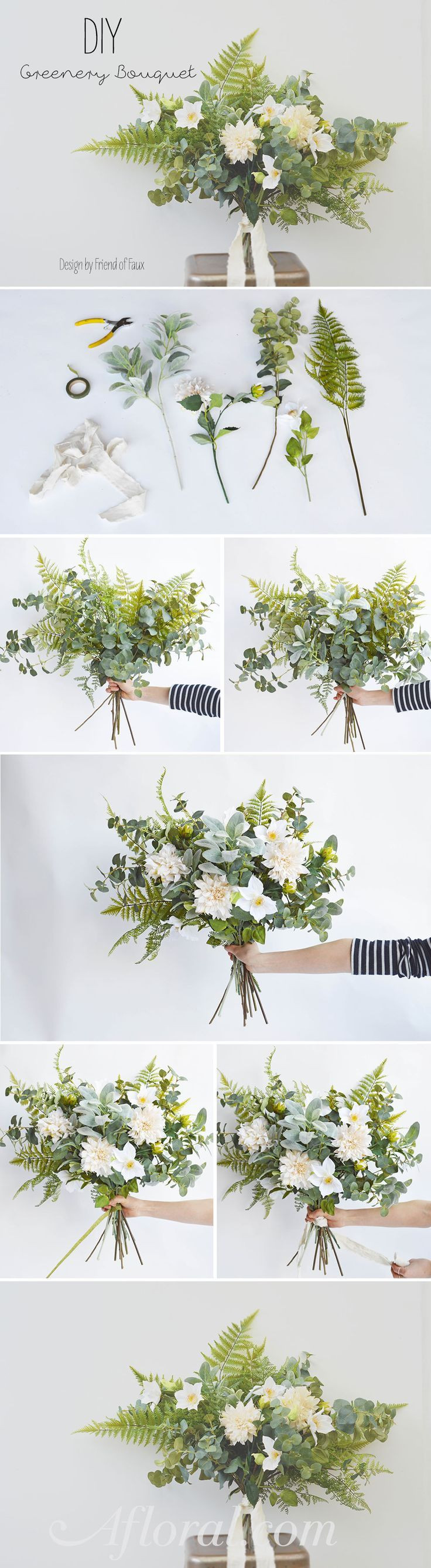 DIY Greenery Bouquet