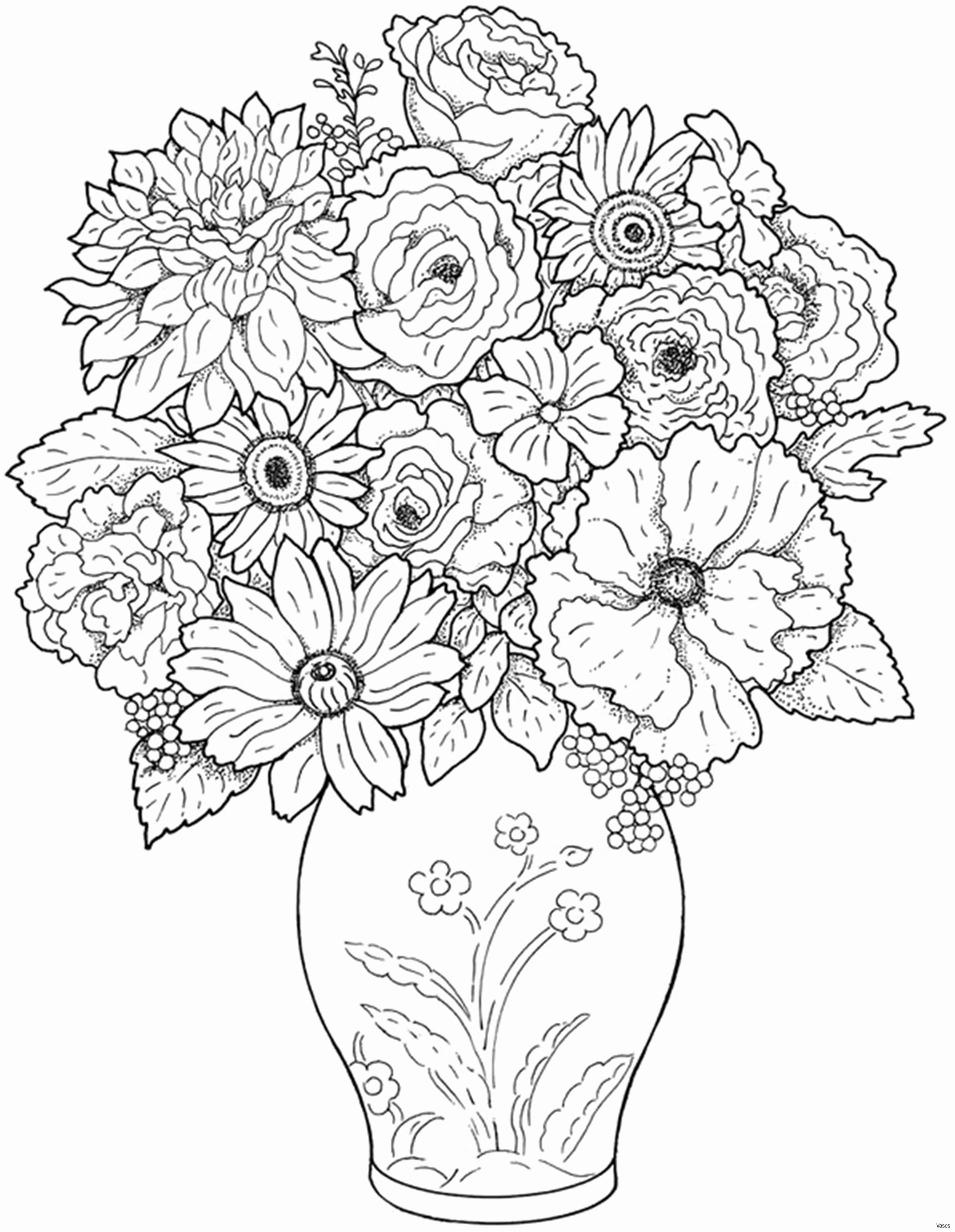 Colering Pages Lovely Cool Vases Flower Vase Coloring Page Pages Flowers In A top I 0d
