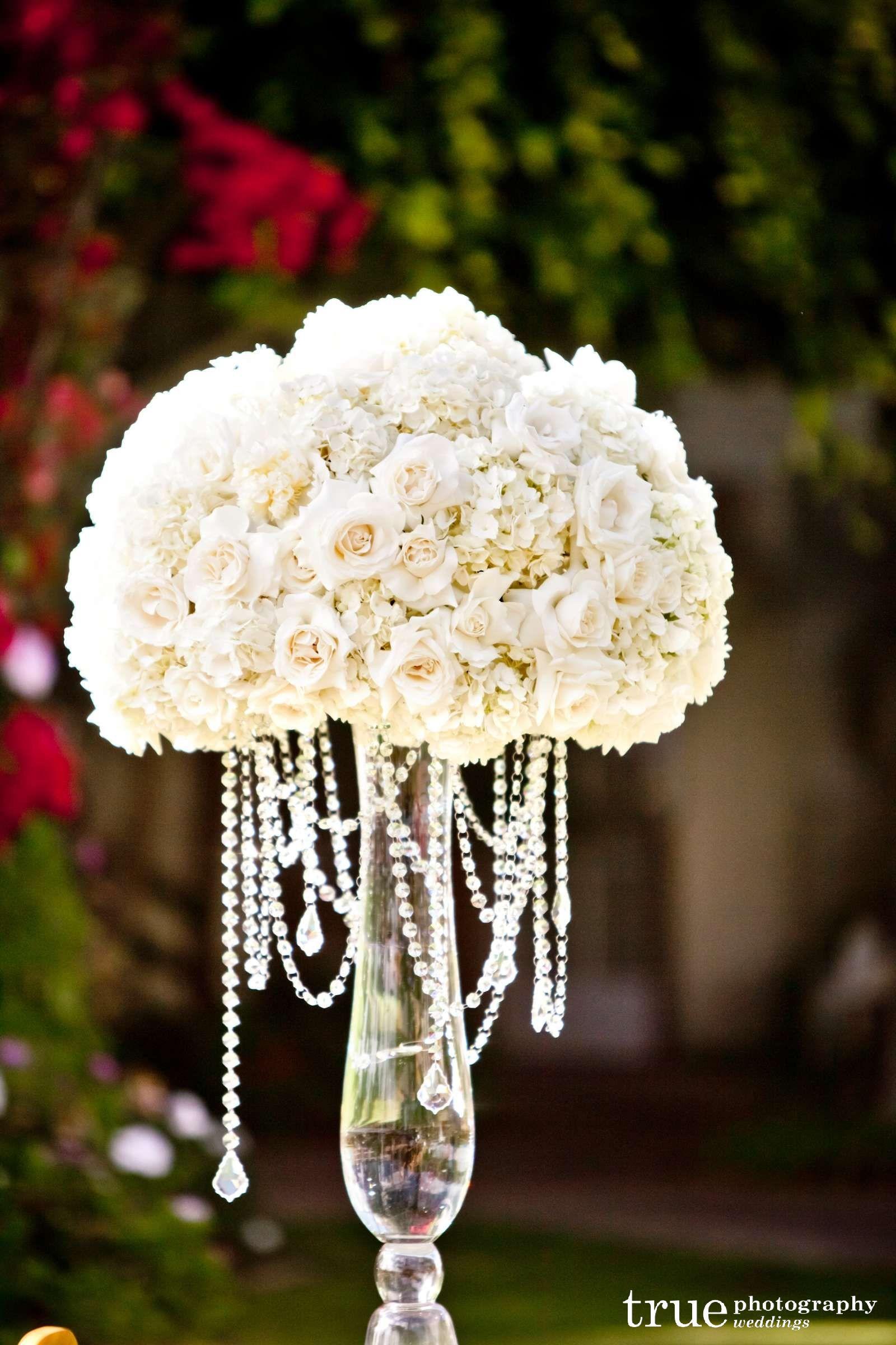 glamorous silk flower centerpieces