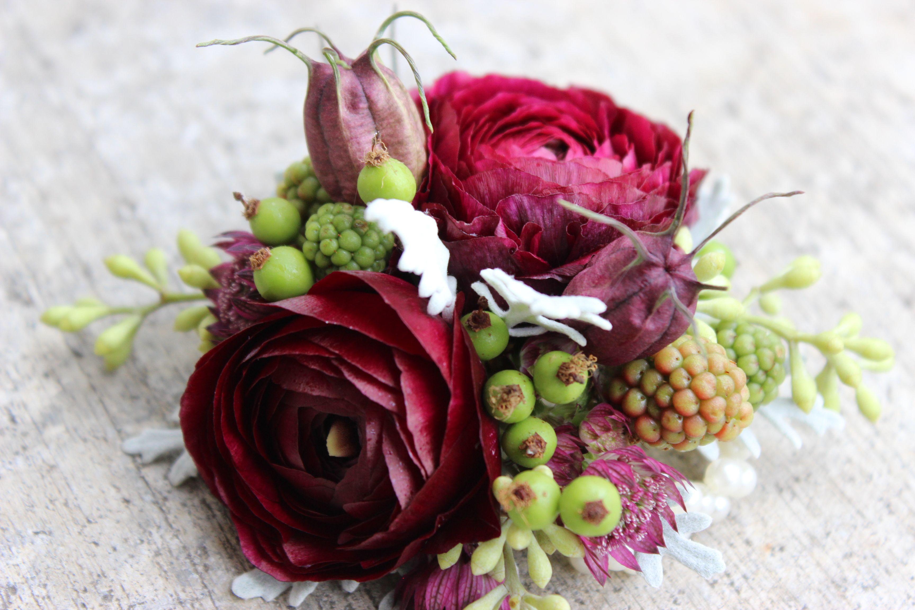 purple wrist corsage boutonniere plum purple flowers sophisticatedfloral…