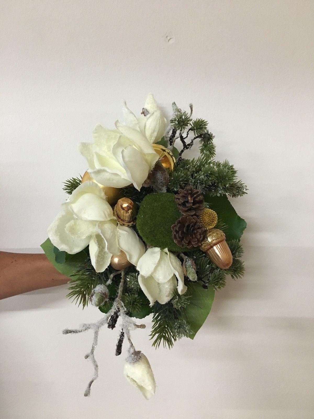 Weihnachtsstrauß Nr 13 Blumenstrauss Künstlich Winter Seidenblume Liegestrauß