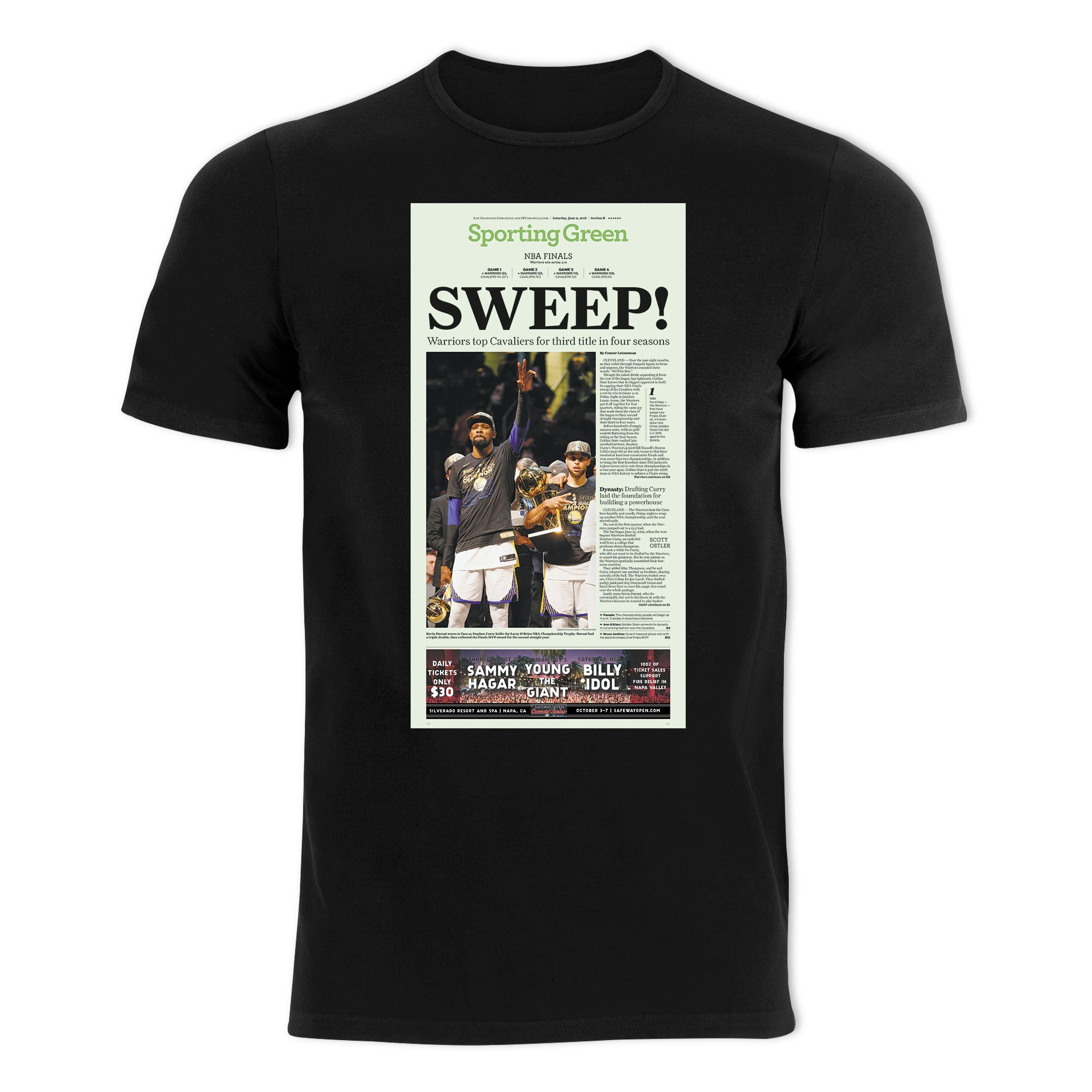 Warriors 2018 NBA Game 4 Championship T shirt Sporting Green cover