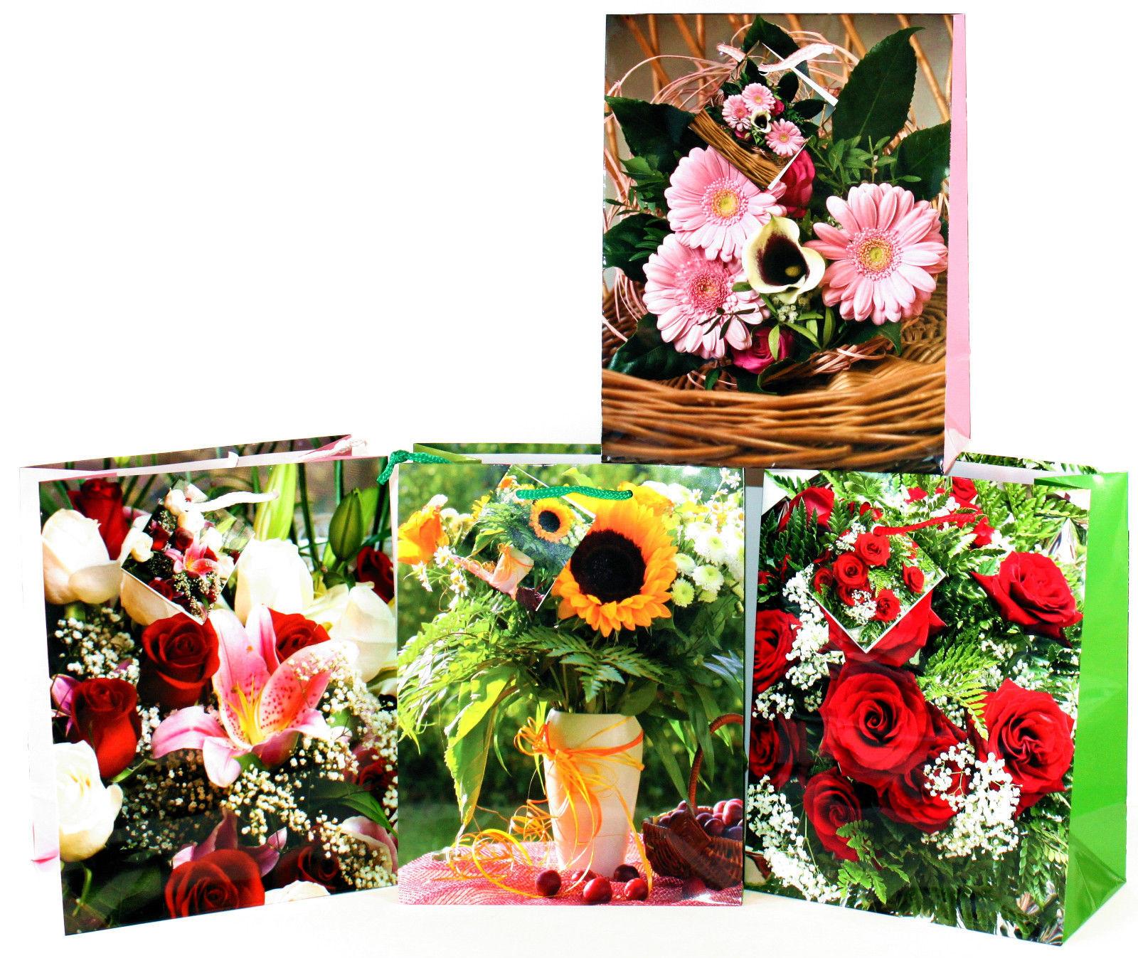 Geschenktüten 24 Stk Medium Blumentasche Blumenbeutel Beutel Geschenktaschen 410