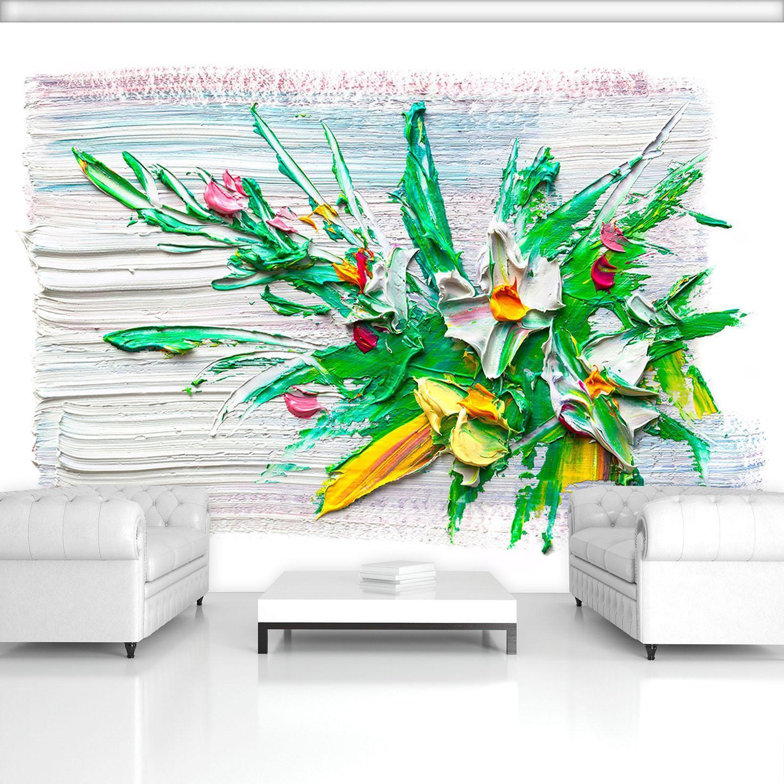 Vließ Fototapete Tapete Wandbild Wallpaper Mural Blumen –l