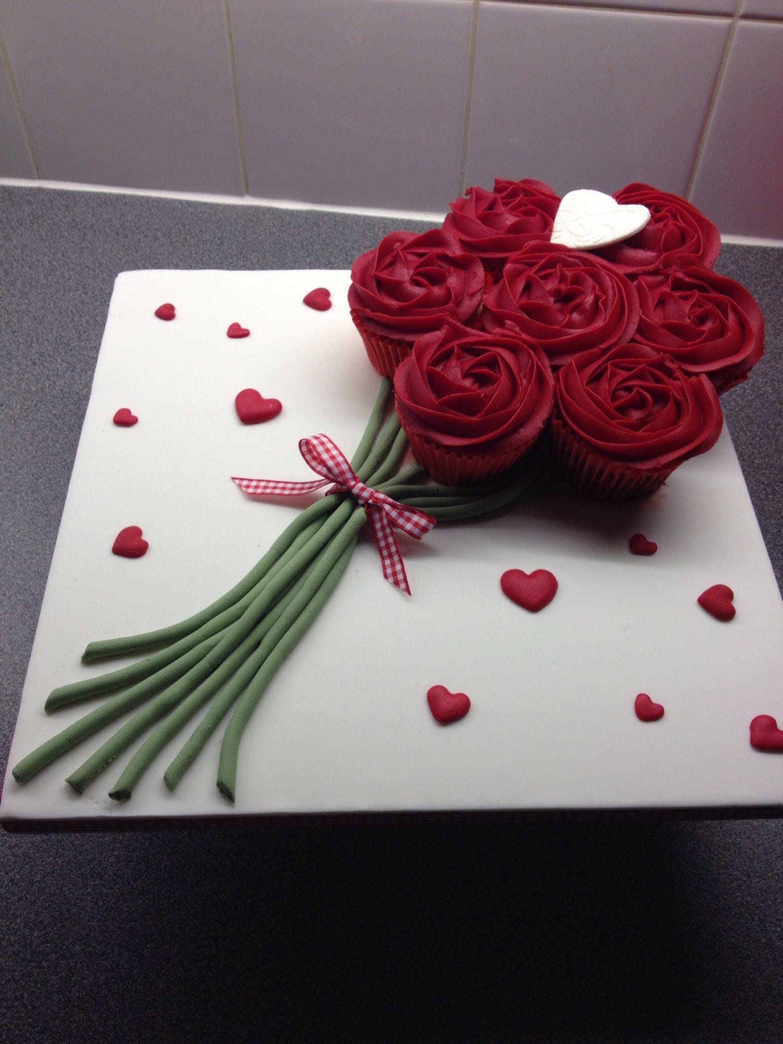 Valentines cupcake bouquet More