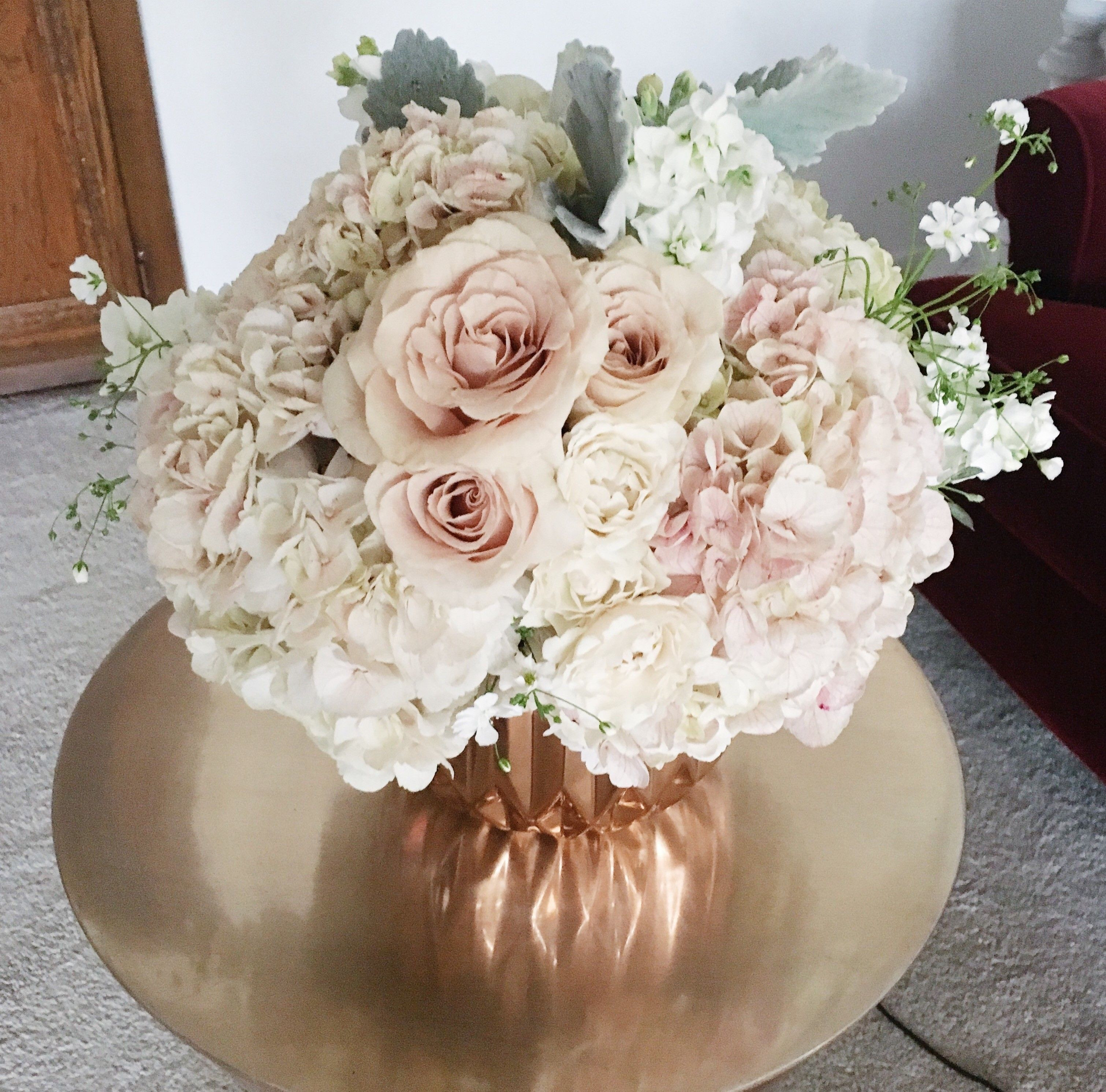 Send the Blushing bouquet of flowers from Rock Paper Details in LOS ANGELES CA Local fresh flower delivery directly from the florist and never in a box