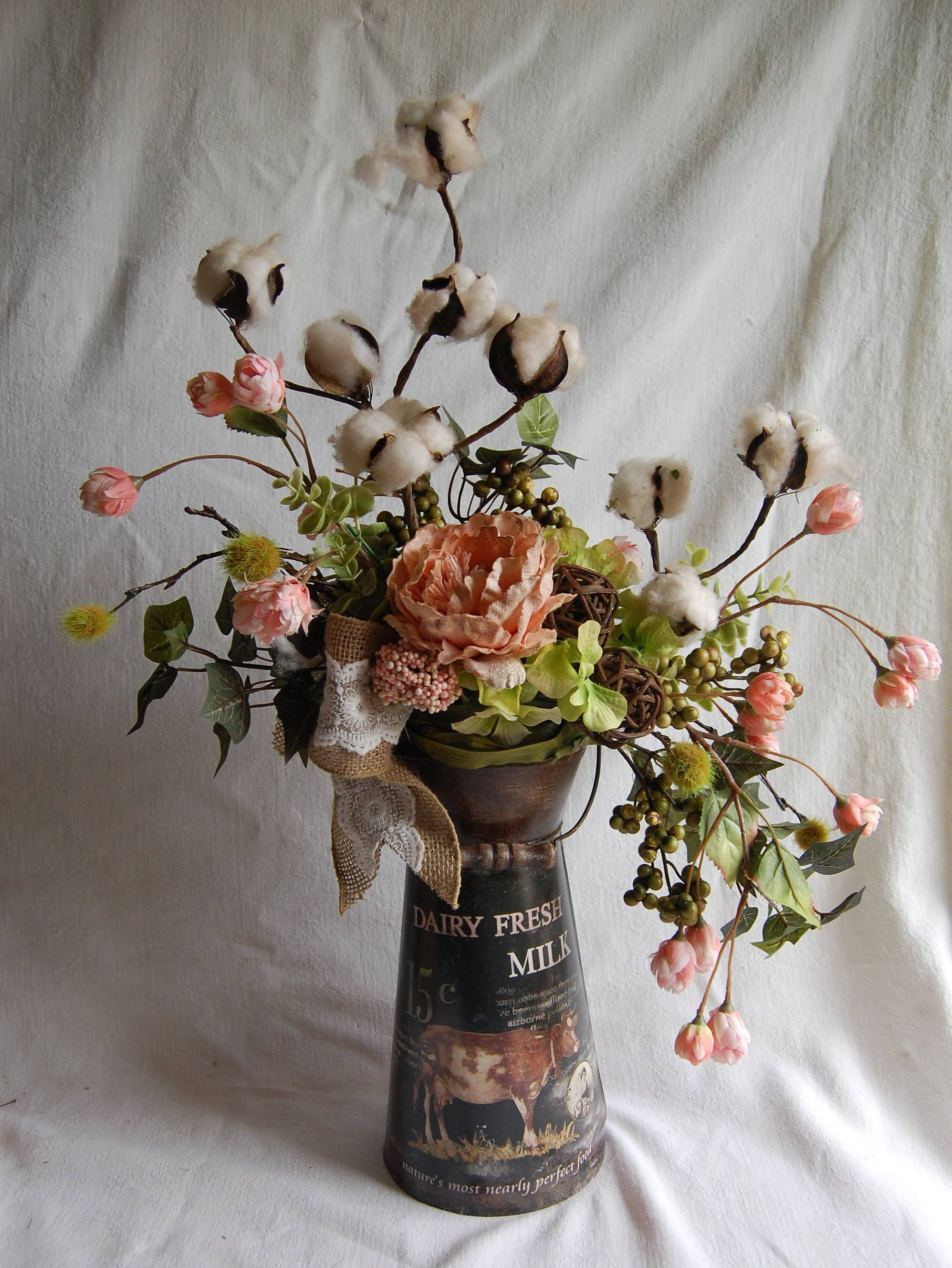 Lavender Blue Floral West Des Moines florist Lynda O Hara Silk Floral decor French Farmhouse Shabby Chic peach pink green brown cream Silk Floral