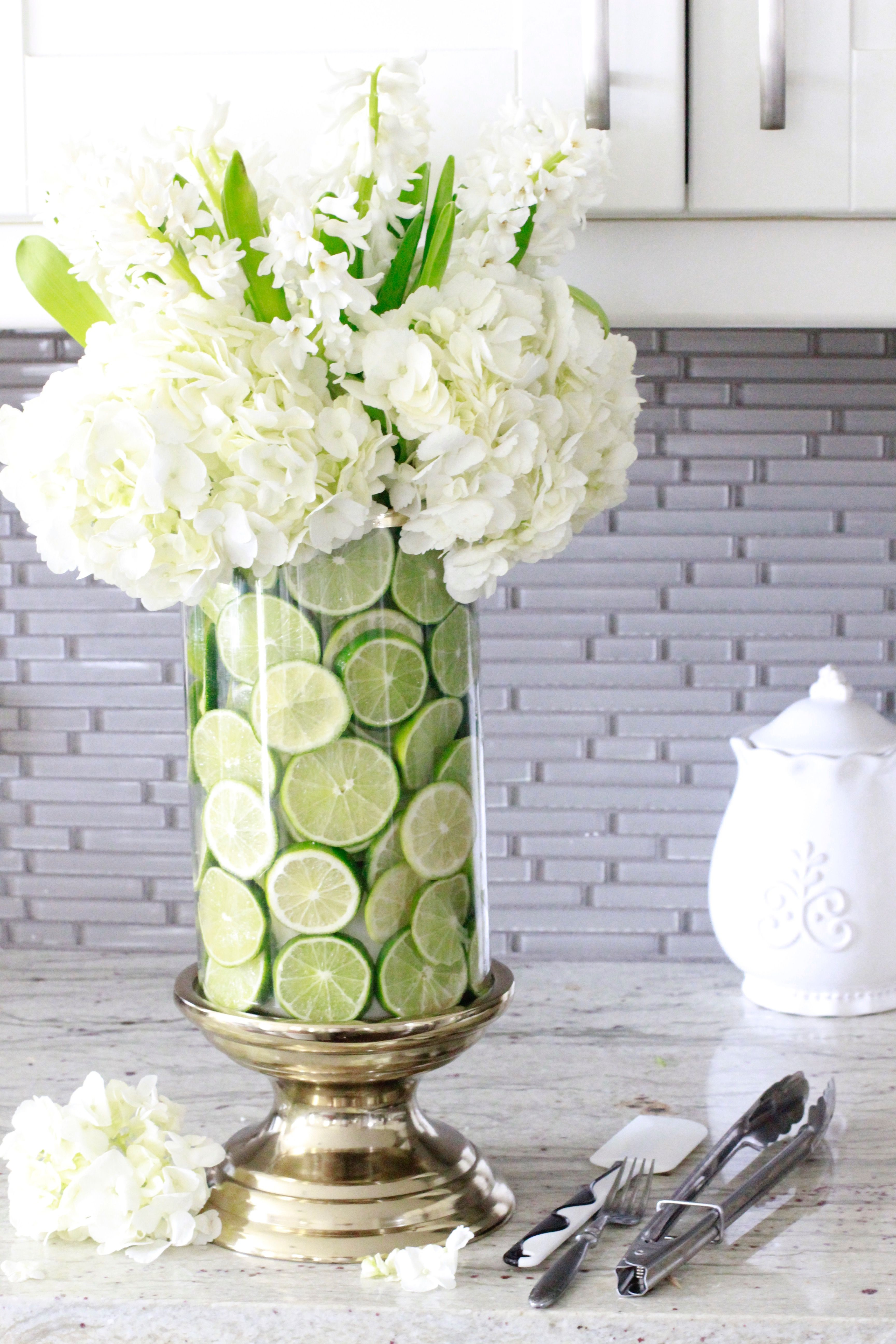 Learn how to create a fruit and floral arrangement in just a few easy steps Also see what other gorgeous arrangements my friends are sharing