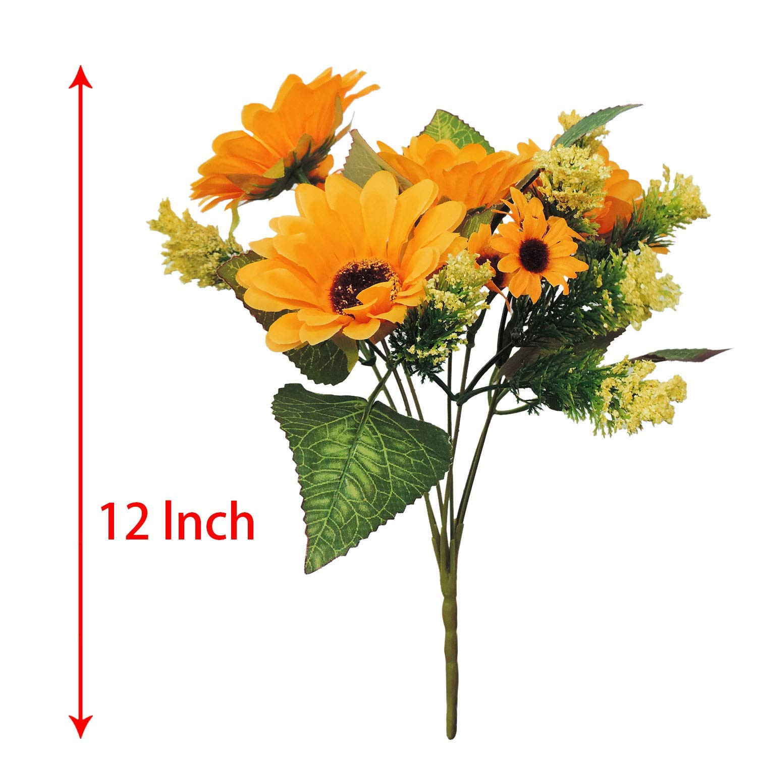 Amazon Yinhua 4 Pcs Artificial Sunflower Silk Flowers Bouquet Home fice Wedding Party Garden Centerpieces Arrangements Perfect Decoration Home &