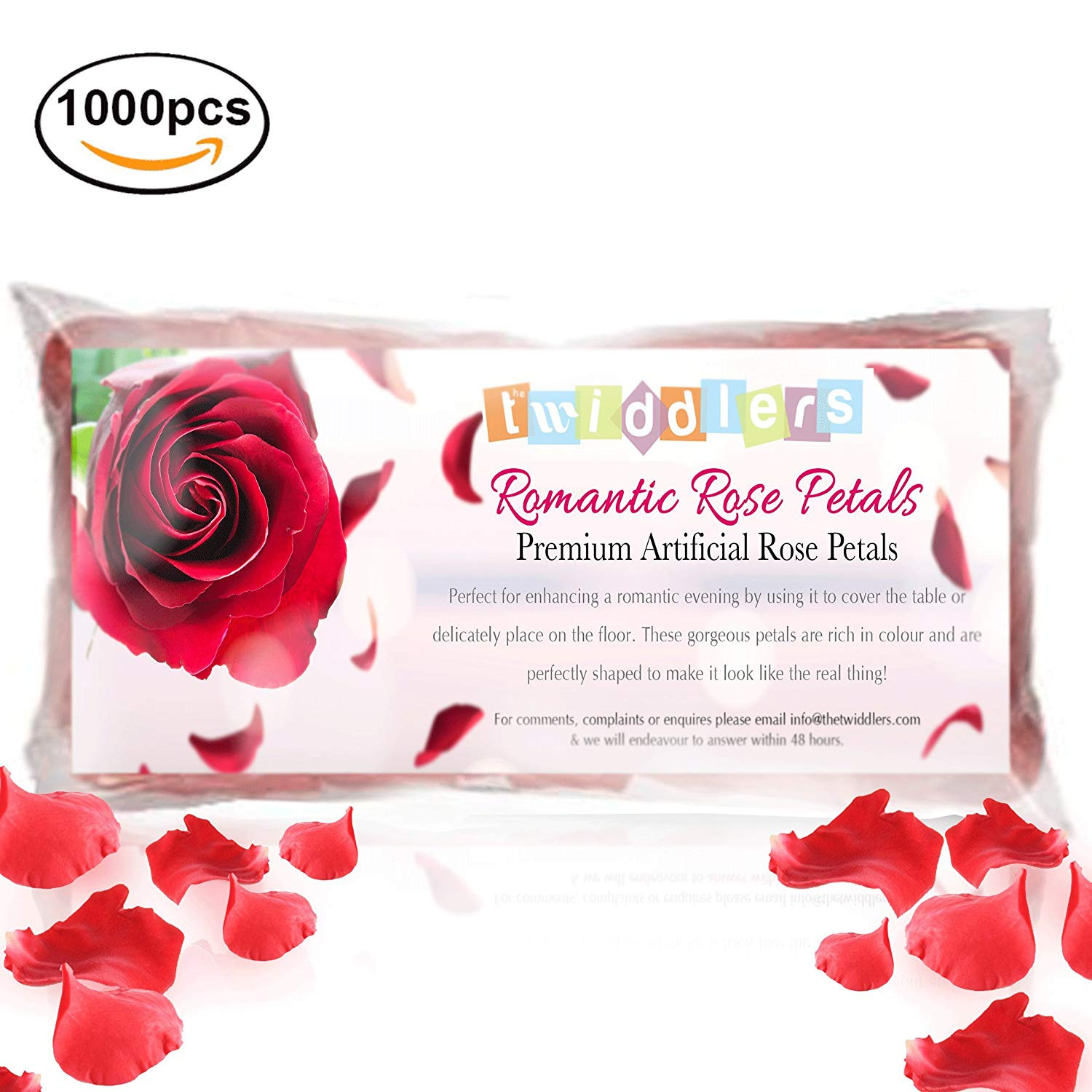 Mothers Day Romantic Rose Red Petal Artifical Flowers perfect for Wedding or anniversary 1000 Amazon Kitchen & Home