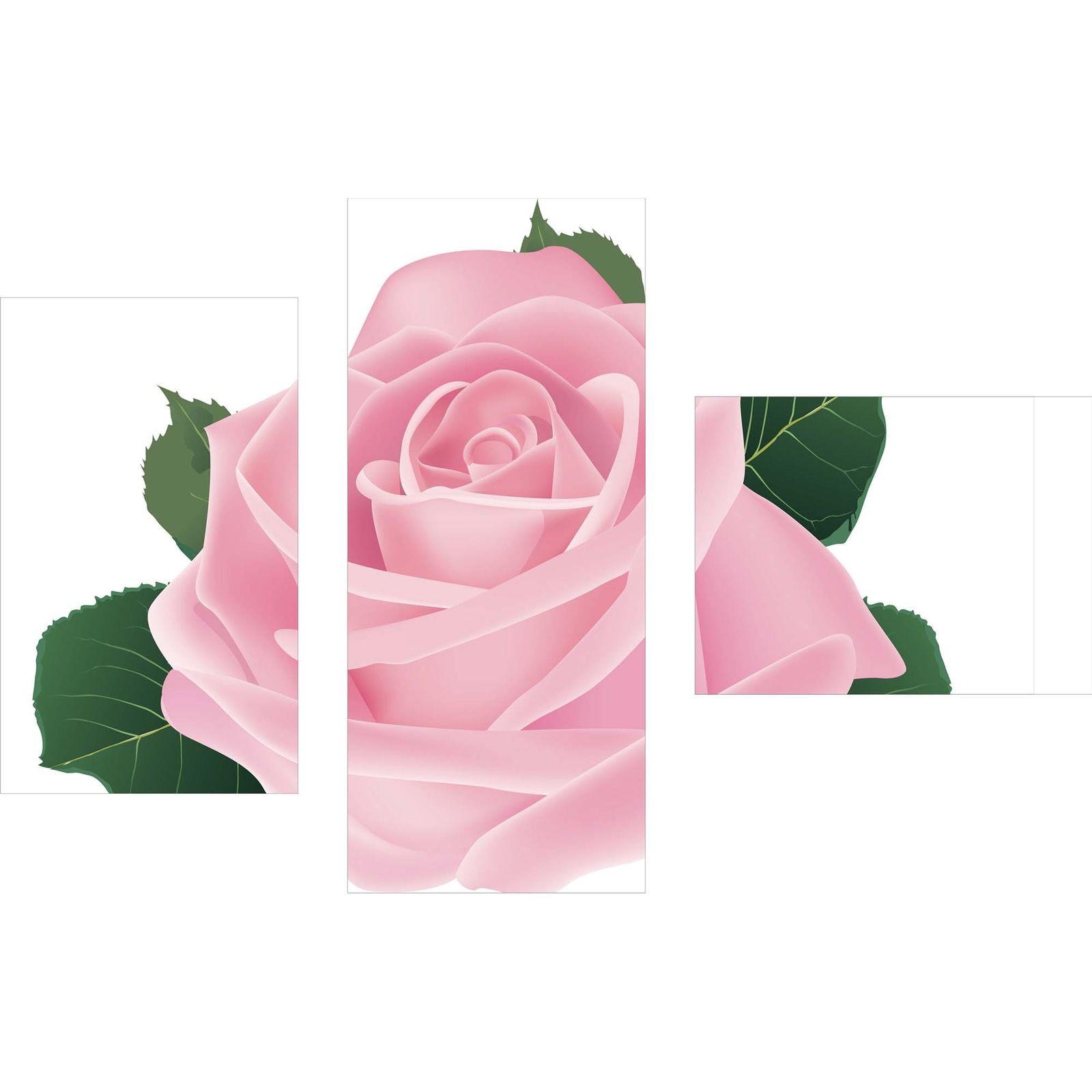 Dreiteiliges Wandbild 3 Teilig Glas Bild Glasbilder Wanddeko Rose Pink 100x70 Cm
