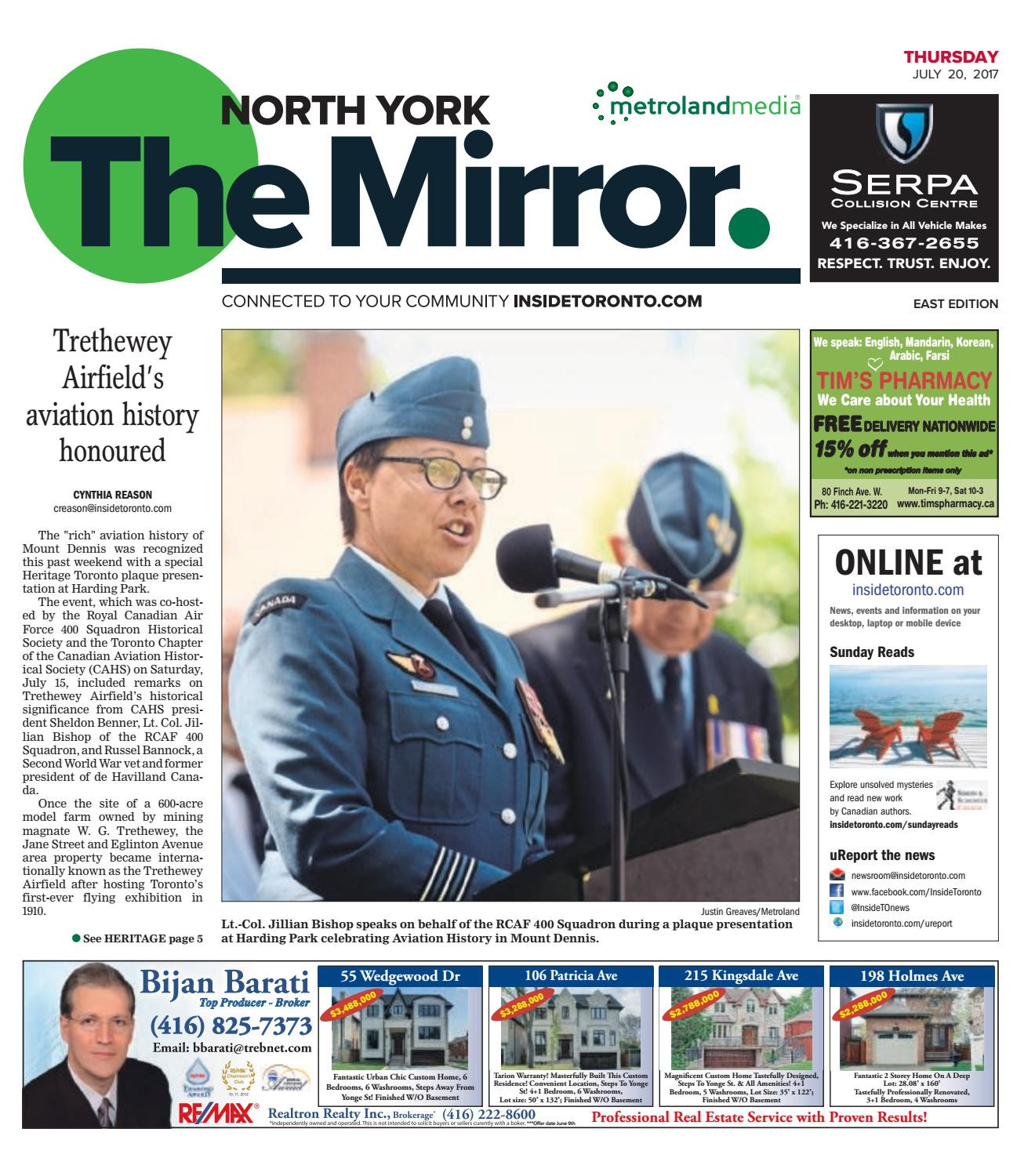 The North York Mirror East July 20 2017 by The North York Mirror issuu