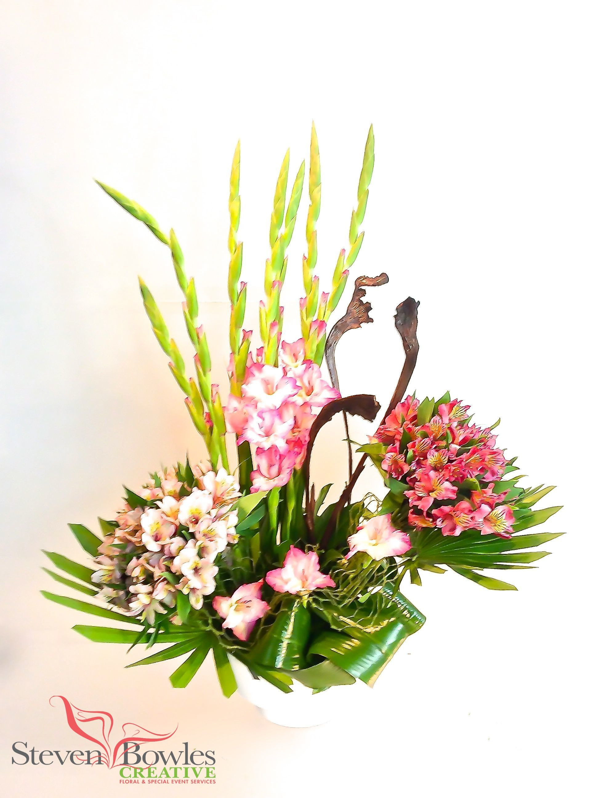 Gladiola s floral arrangement by Steven Bowles Creative floral and event designs Naples FL