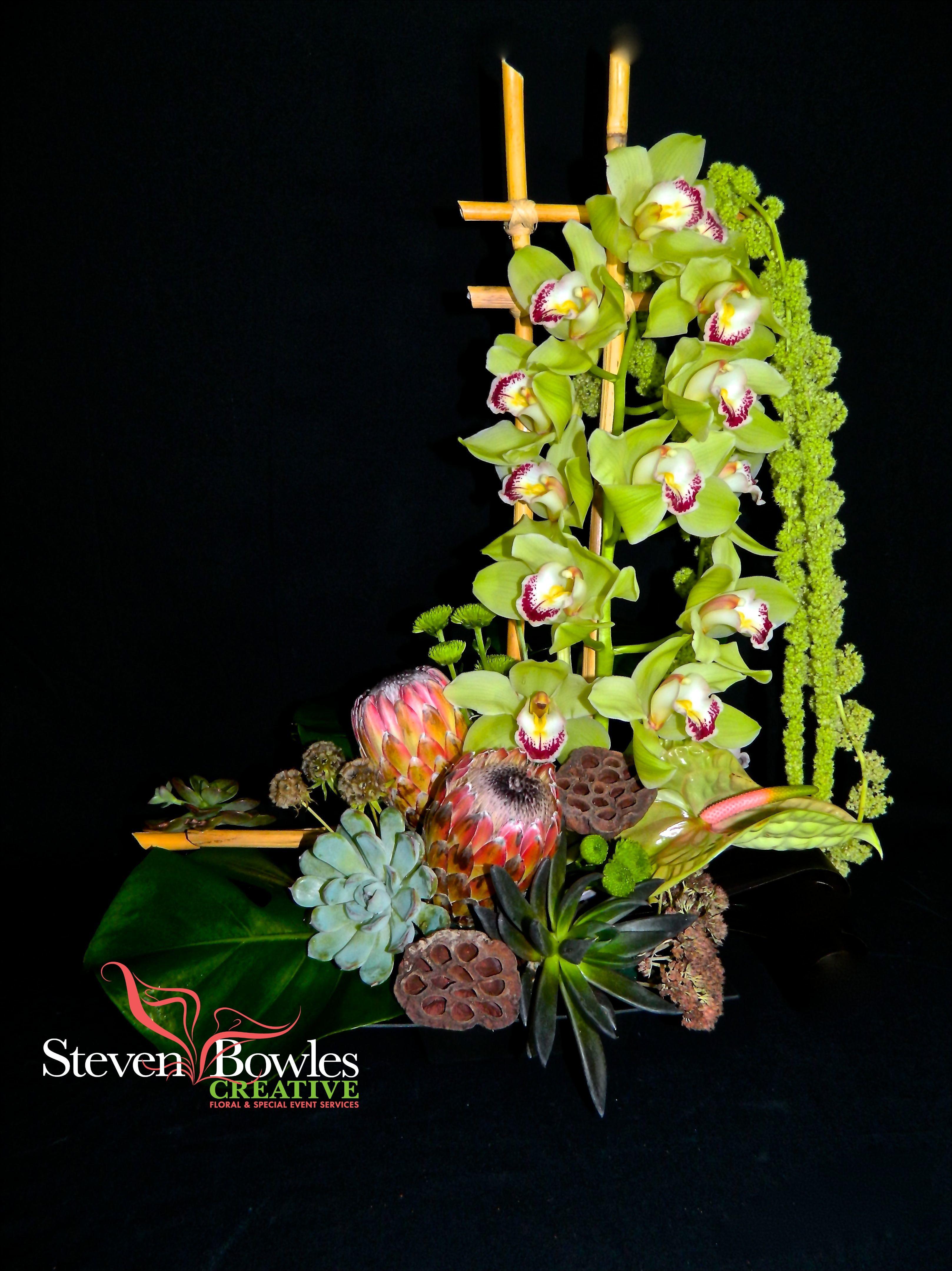 Tropical floral design by Steven Bowles Creative Naples FL