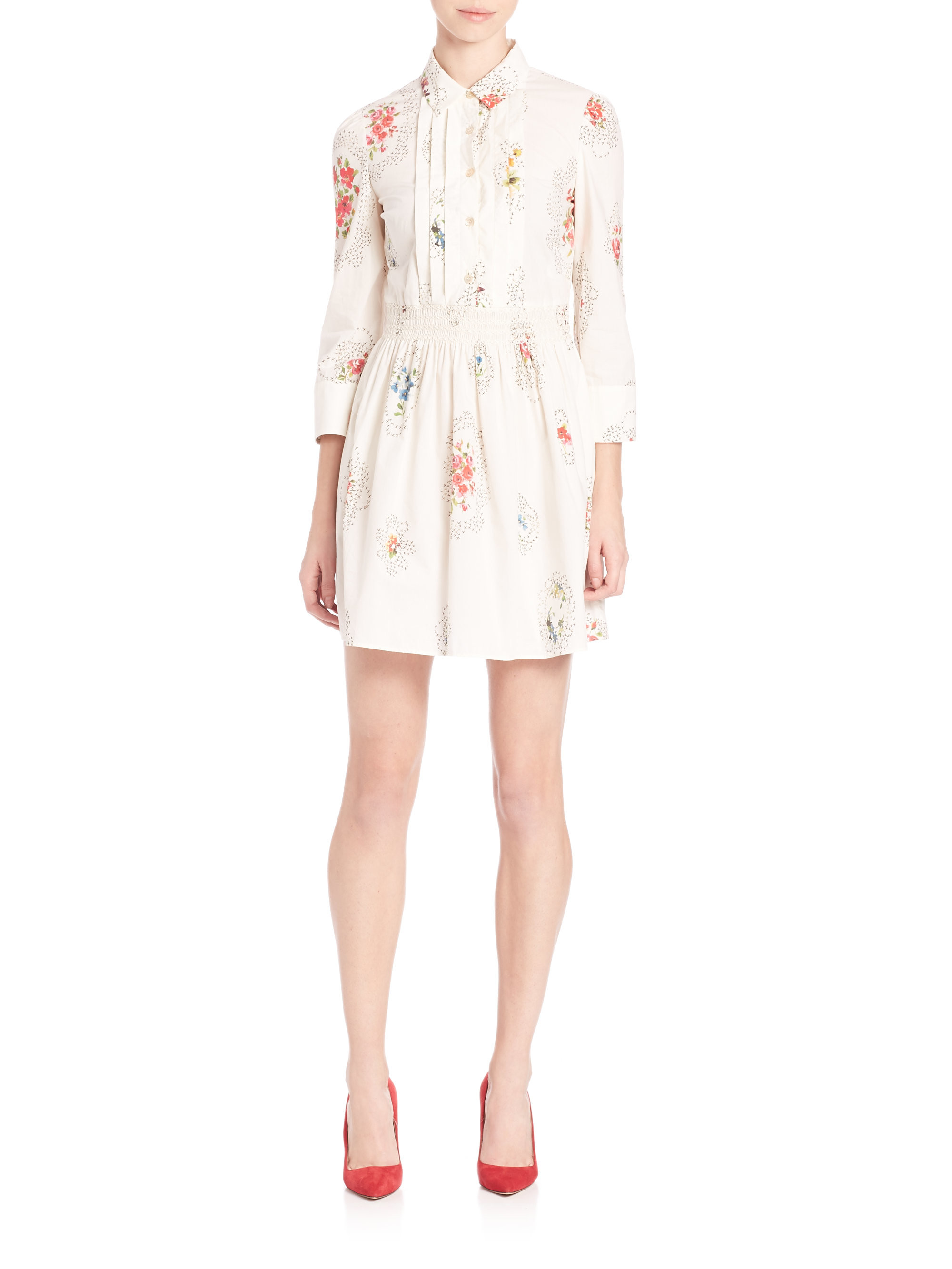 RED Valentino Shirtdress Hot Sale Low Shipping Fee Cheap line ficial Site For Sale High Quality
