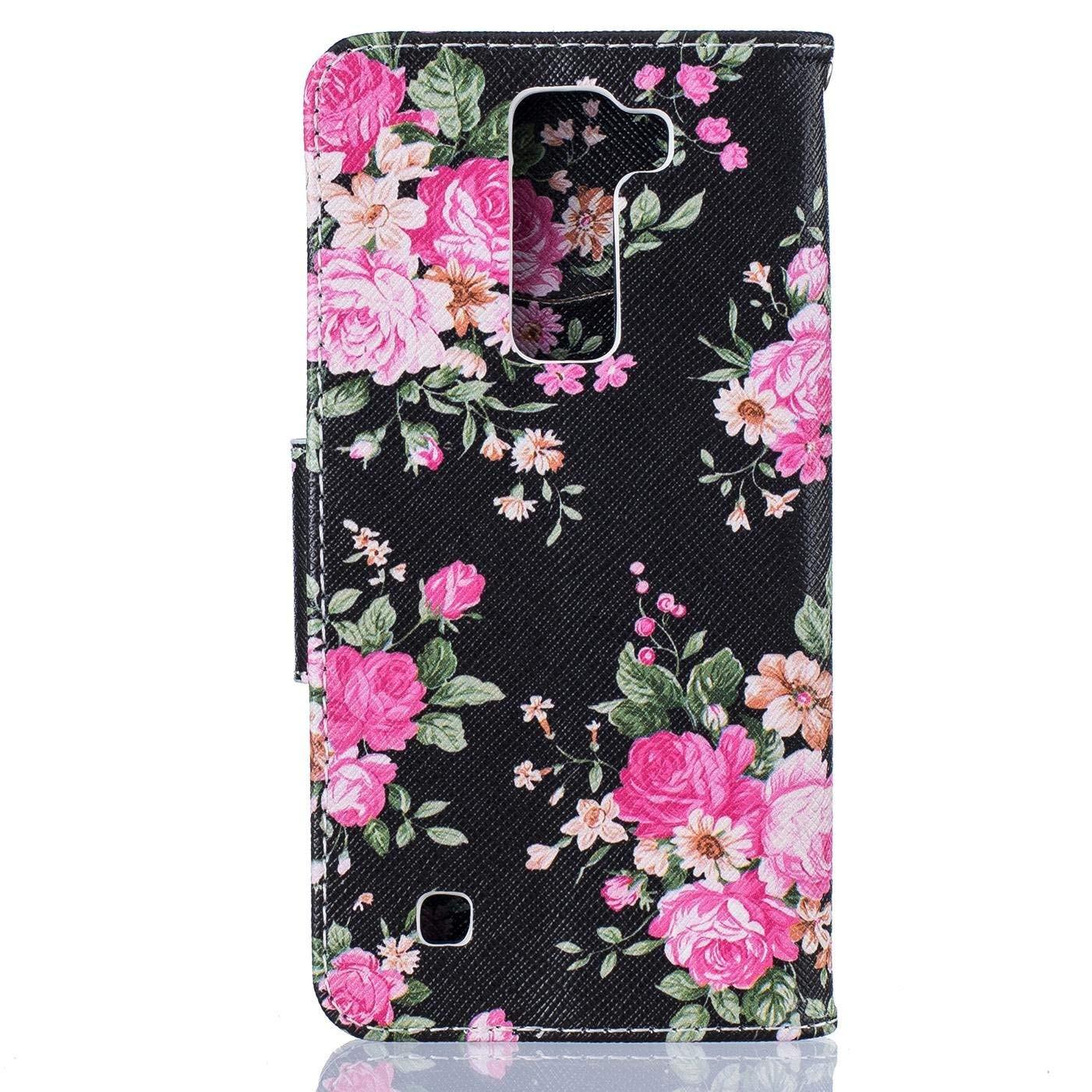 Amazon LG K8 Case LG Escape 3 Case LG Phoenix 2 Case Firefish PU Leather Wallet Case [Card Slots] [Kickstand] Magnetic Closure Scratch Proof Case