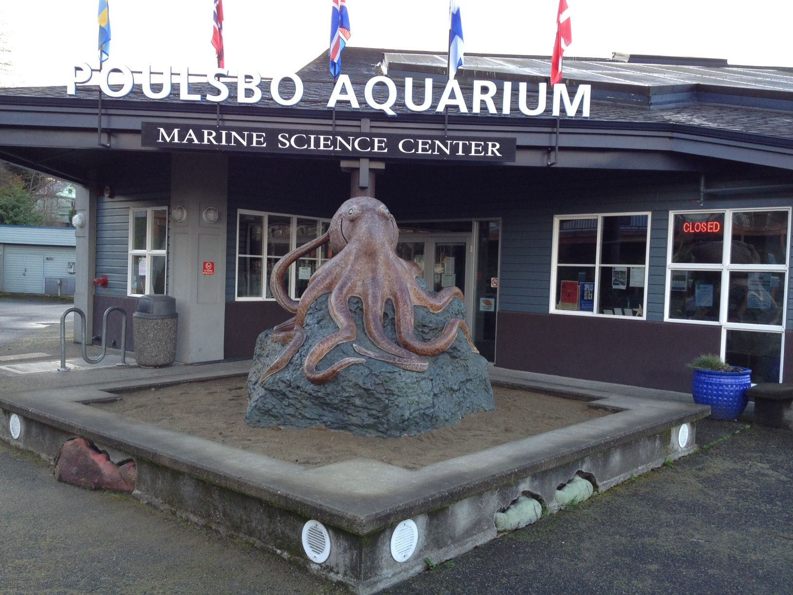 Poulsbo Marine Science Center Octopus sculpture Awesome