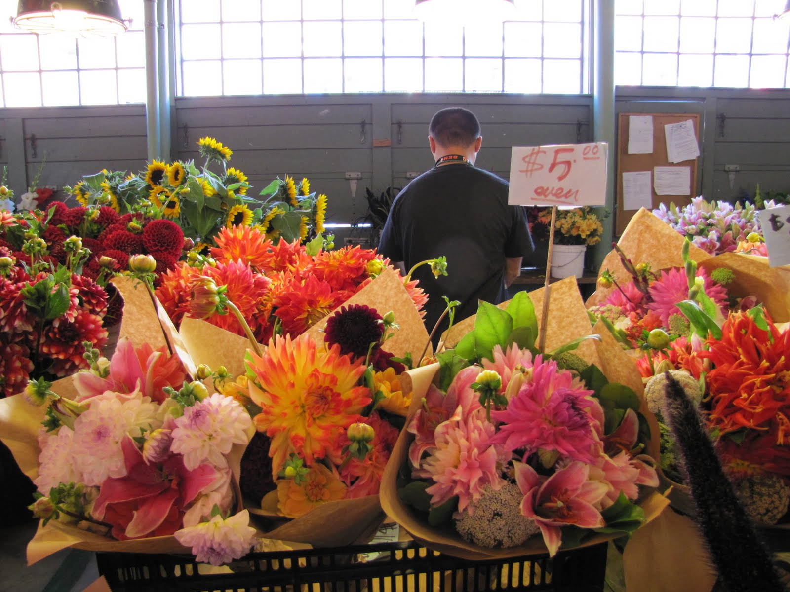 A lot of flowers are available for sale here and since better than 80 percent of the flowers sold in the U S e from Bogota perhaps we are seeing some