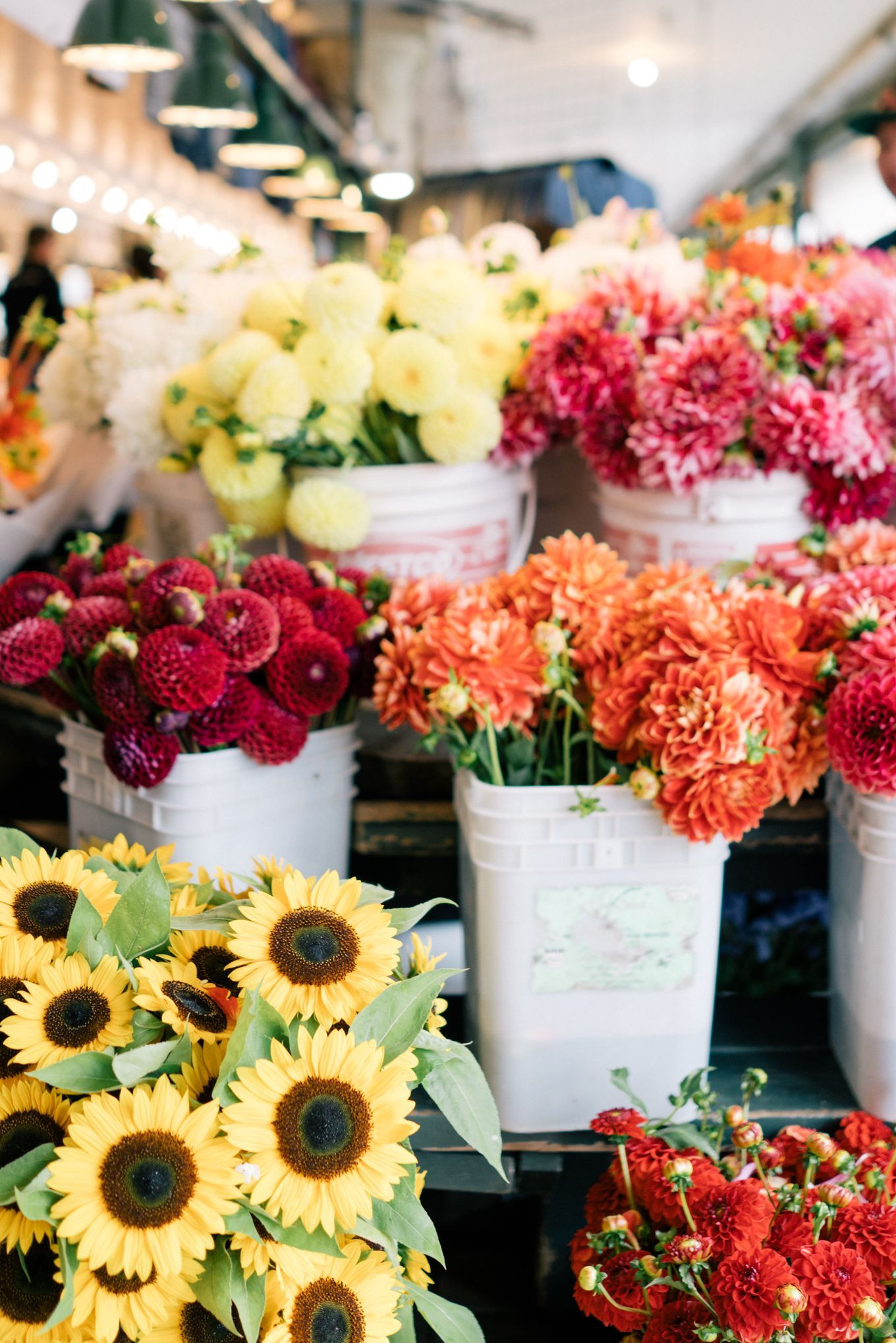 Fresh flowers at Pike s Place Markets Seattle