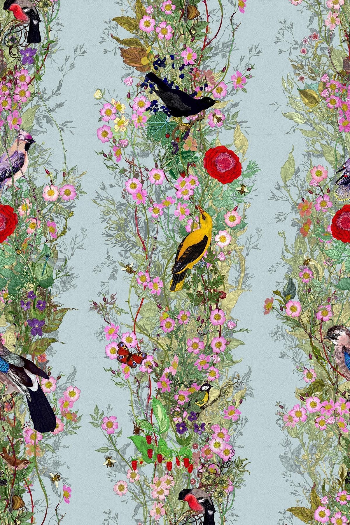 The Fruit Looters wallpaper As part of their 25th year in textiles and surface design Timorous Beasties launch a new design trinity in debt to the great