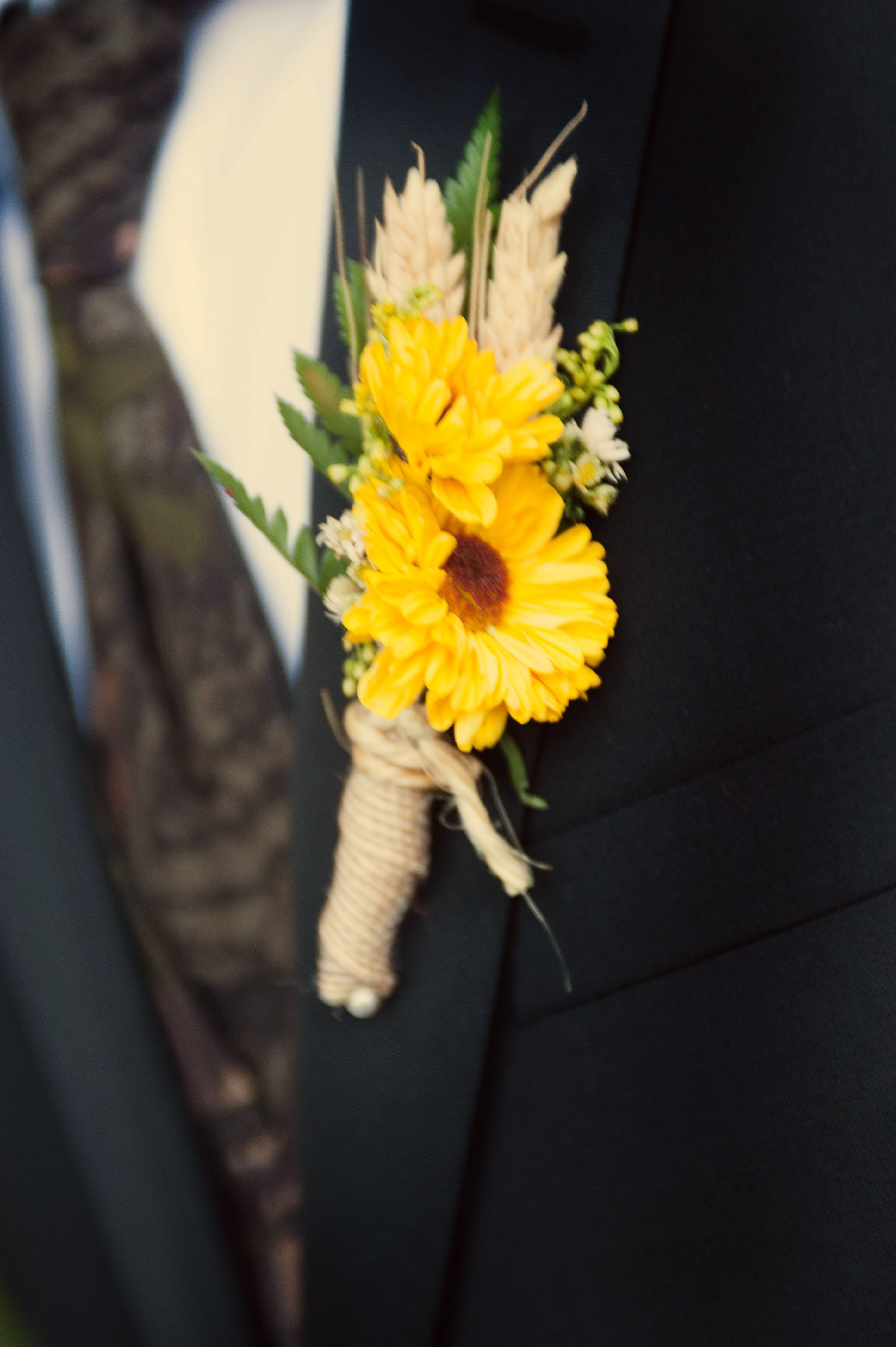 Sunflower Viking Pom Boutonniere By Clark County Floral By Tara Thackeray graphy