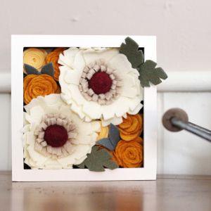 Flower Delivery to Canada Lovely Felt Flower Shadowbox Felt Flowers Shadow Box Home Decor
