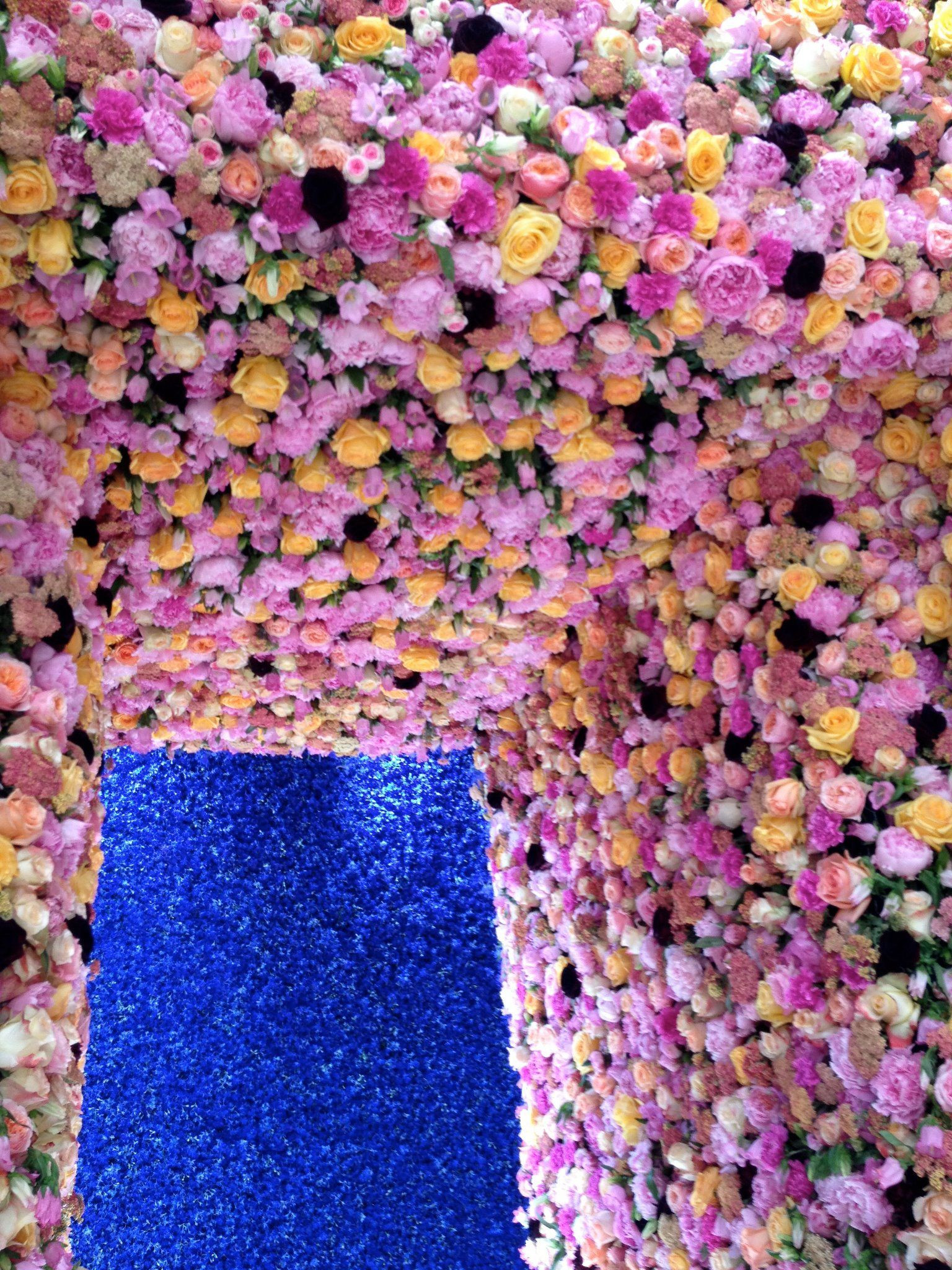 Mark Colle for Dior flower covered walls