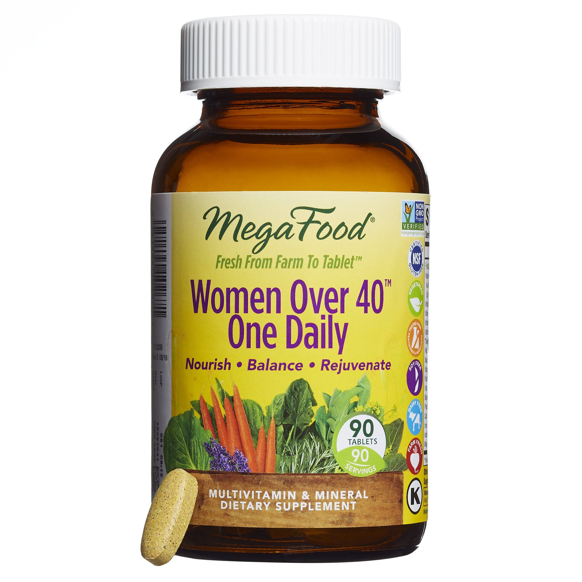 MegaFood Women Over 40 e Daily Multivitamin to Support Immune Health 90 Tablets